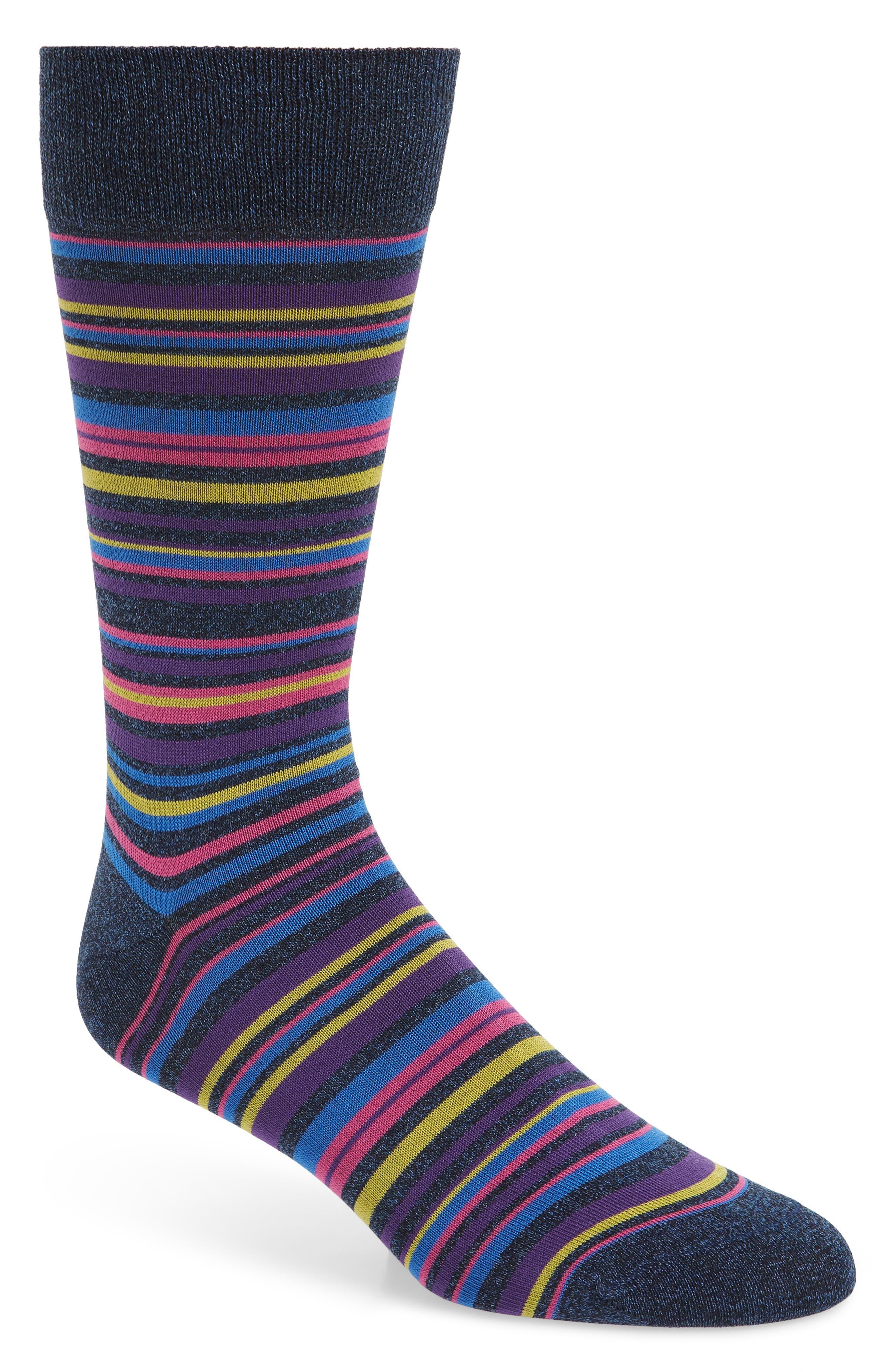 BUGATCHI Cotton Blend Socks, Main, color, 408