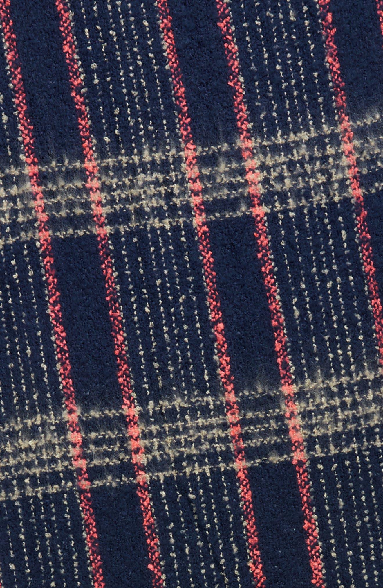 Speckled Check Blanket Scarf,                             Alternate thumbnail 4, color,                             400