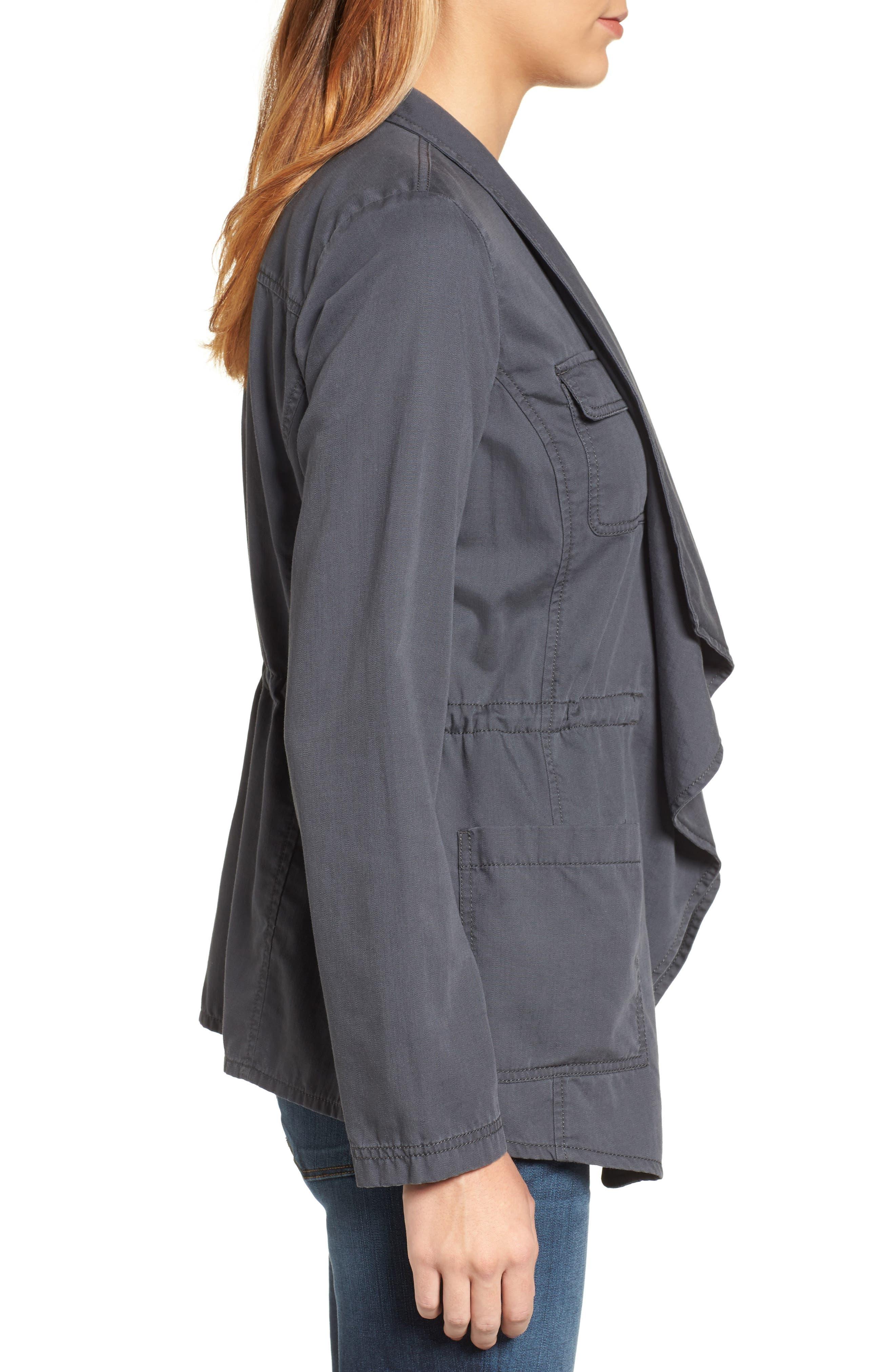 Draped Utility Jacket,                             Alternate thumbnail 15, color,