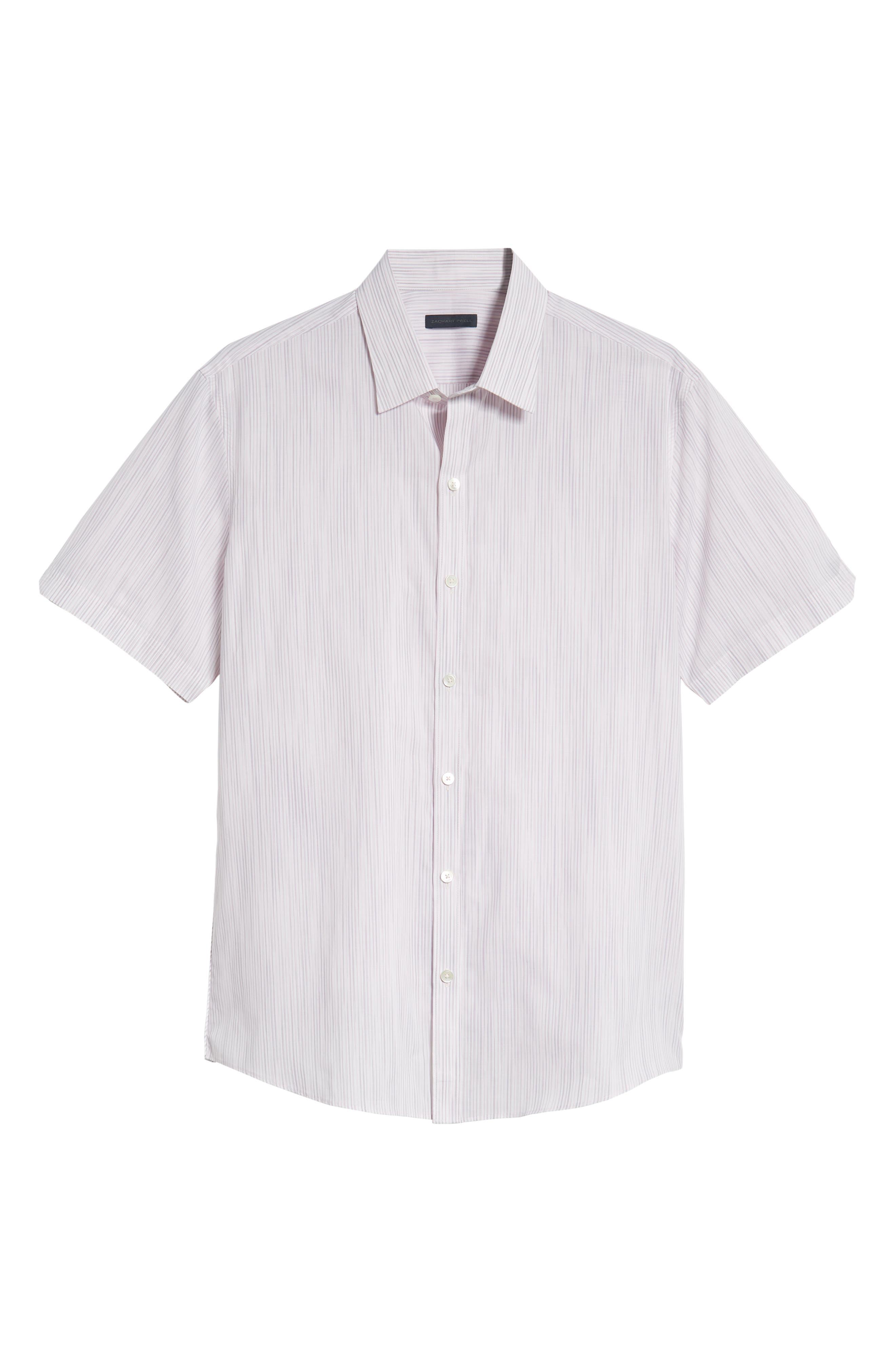 Bella Regular Fit Sport Shirt,                             Alternate thumbnail 5, color,                             LIGHT PINK