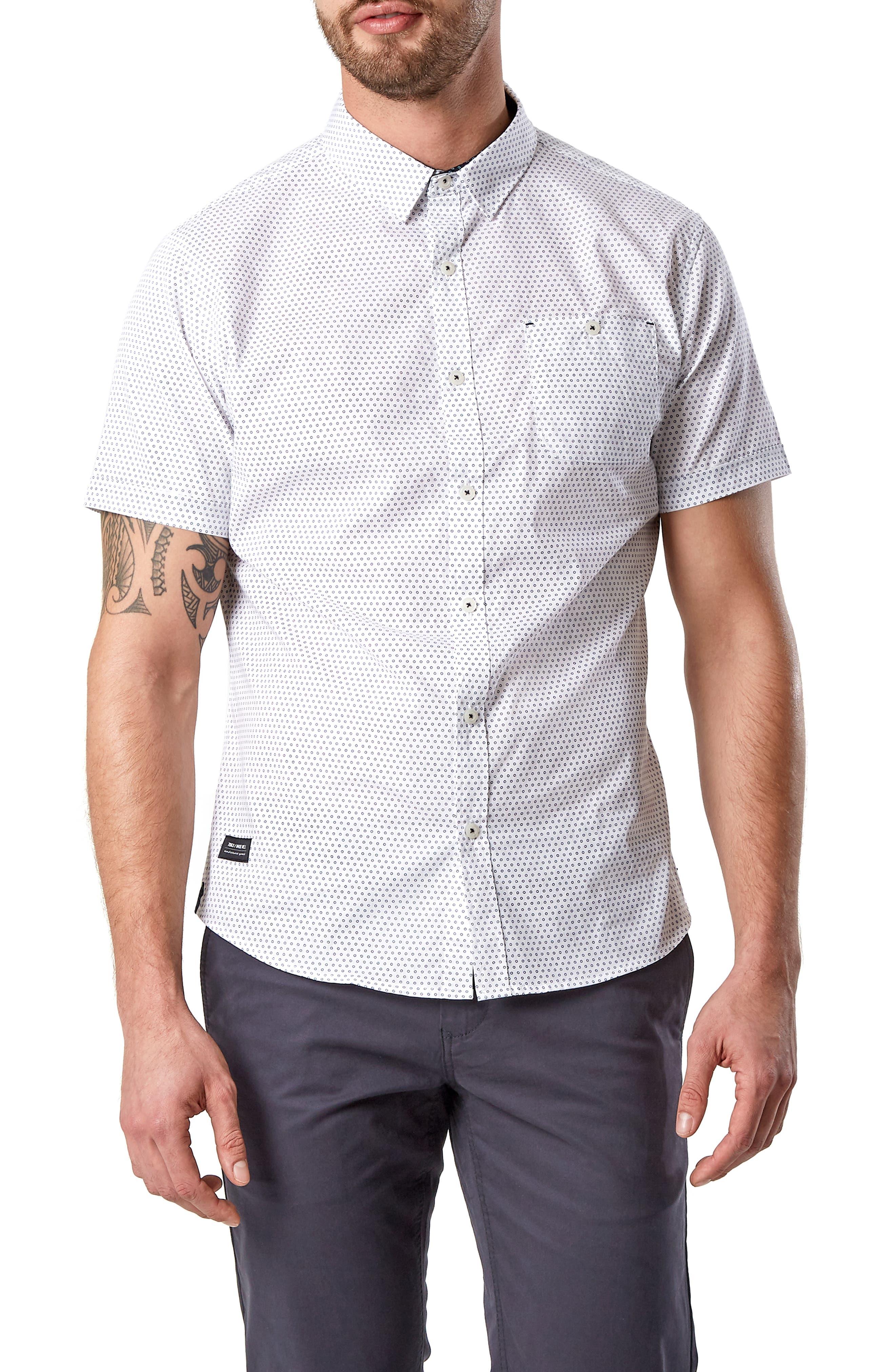 Suavecito Slim Fit Sport Shirt, Main, color, WHITE