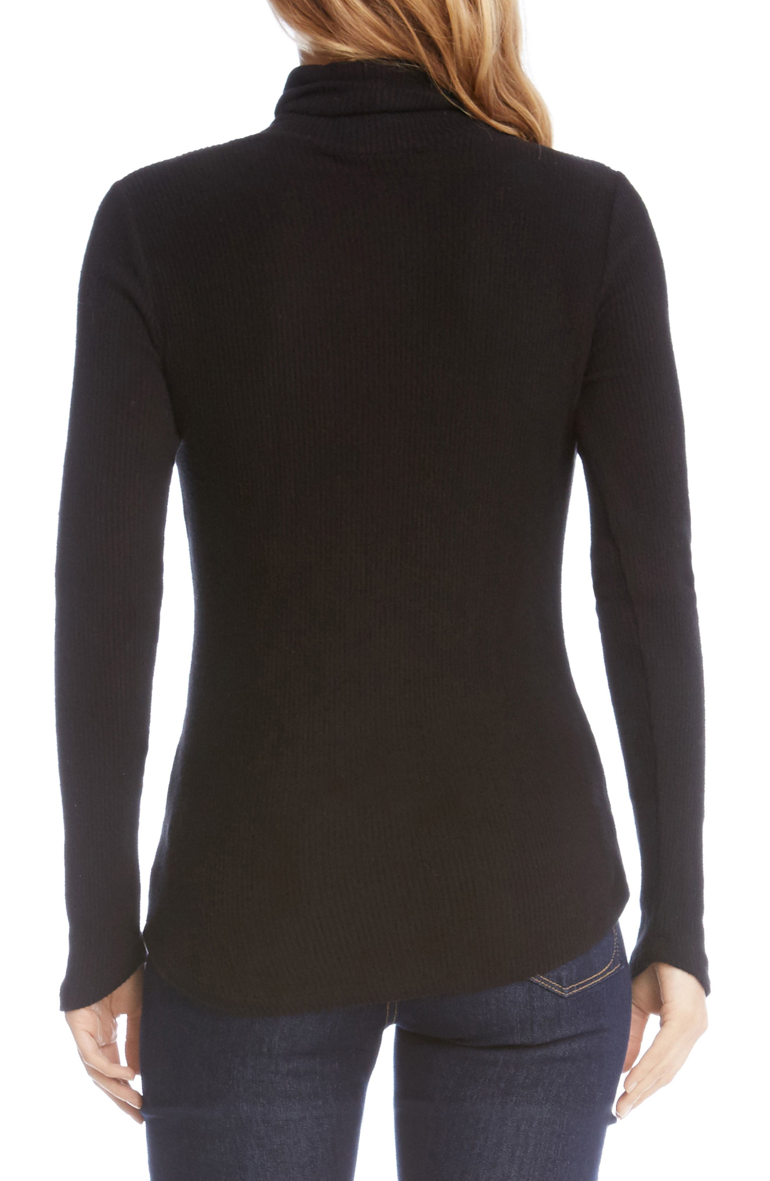 Angled Sleeve Turtleneck,                             Alternate thumbnail 3, color,