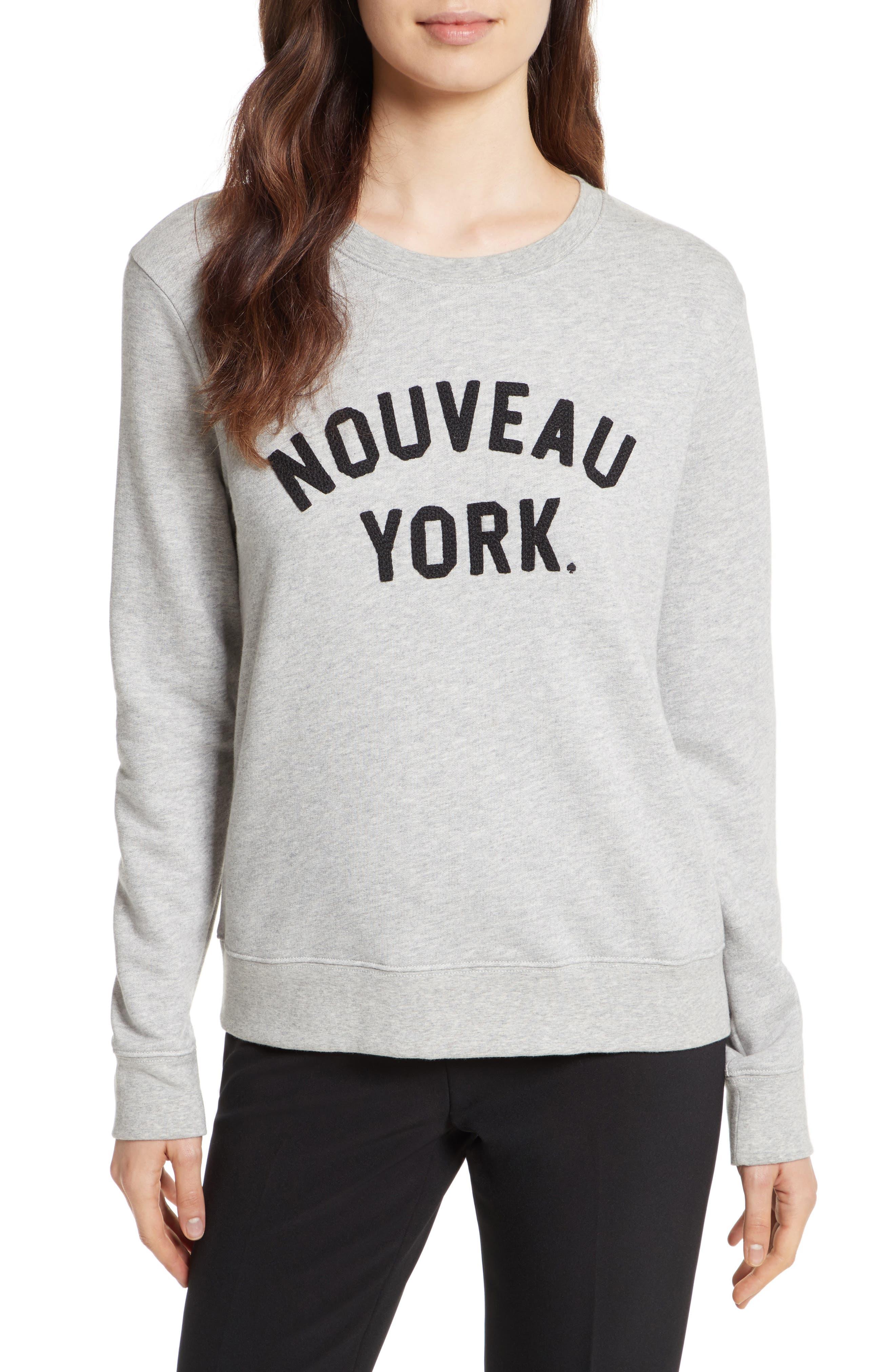 nouveau york sweatshirt,                         Main,                         color, 098