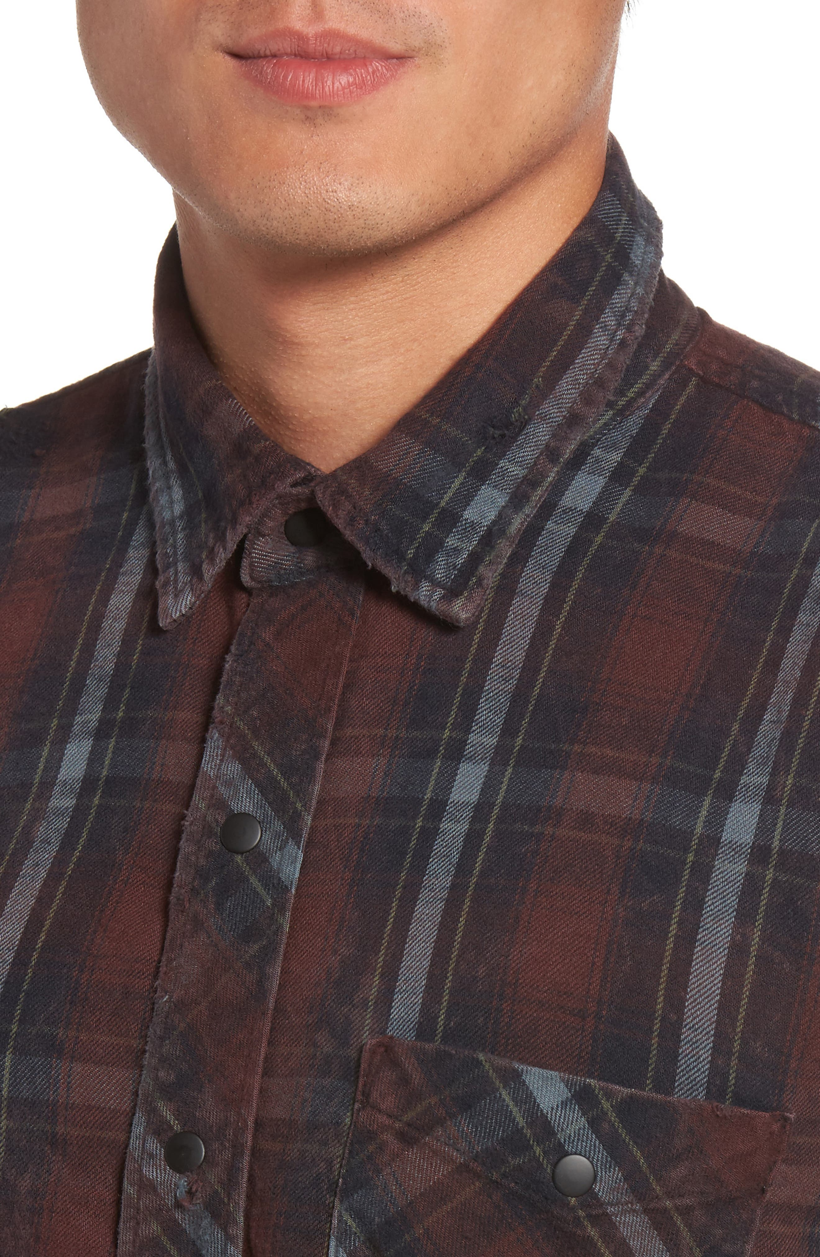 Slim Fit Plaid Sport Shirt,                             Alternate thumbnail 8, color,