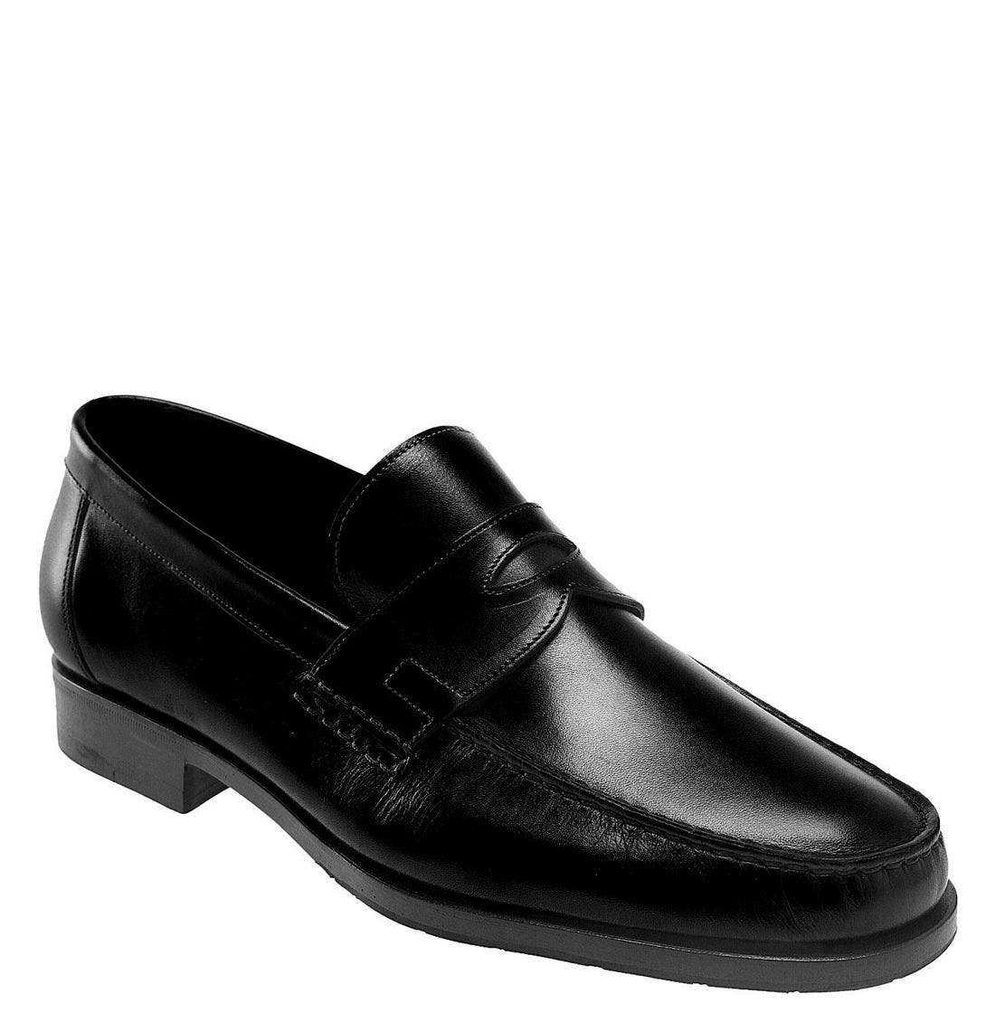 'Haley' Loafer,                             Main thumbnail 1, color,                             BLK