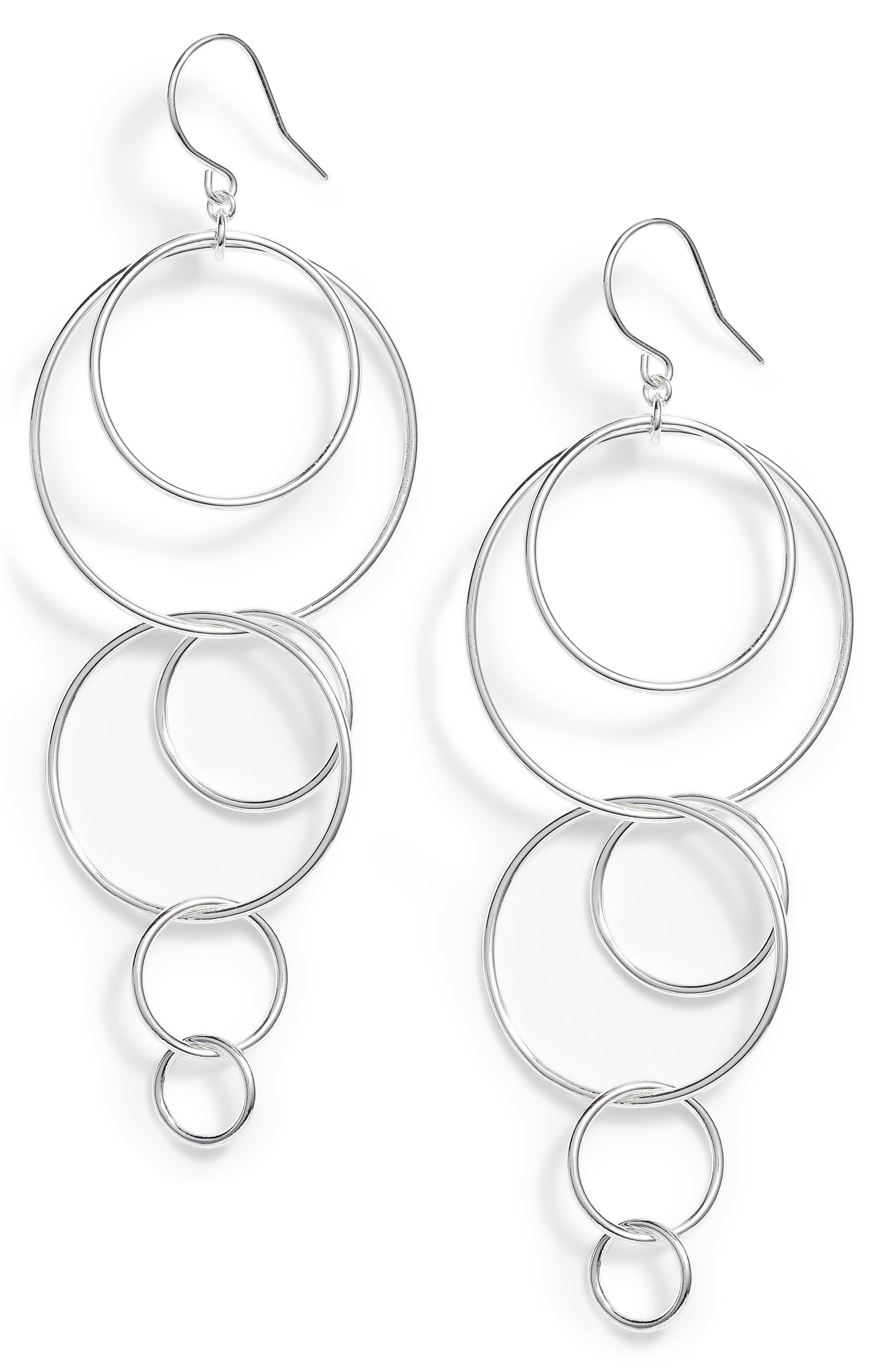 Wilshire Multi Loop Drop Earrings,                             Main thumbnail 1, color,                             040