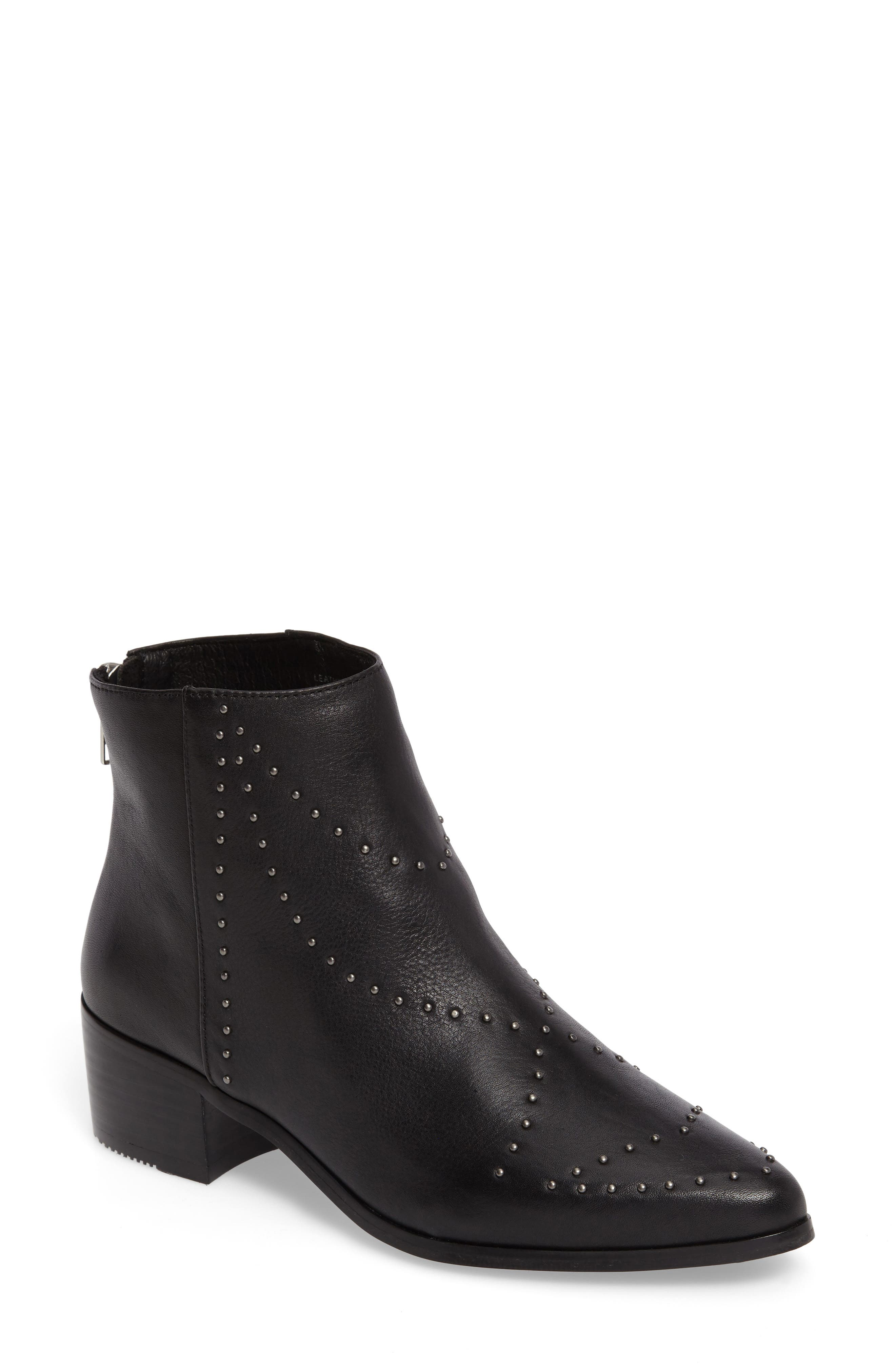 Wendy Studded Bootie,                         Main,                         color, 001