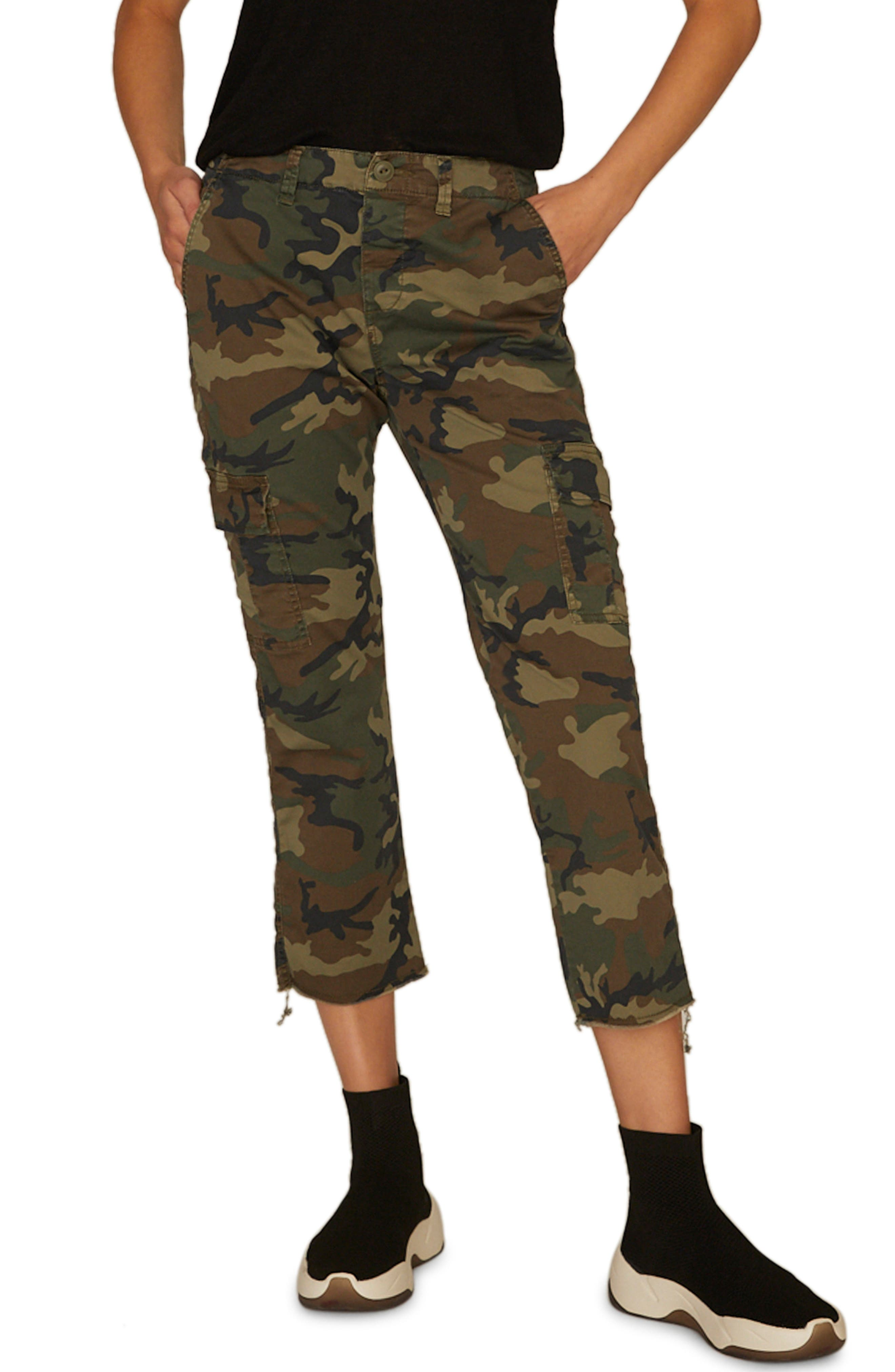 Combat Crop Pants,                             Main thumbnail 1, color,                             LOVE CAMO