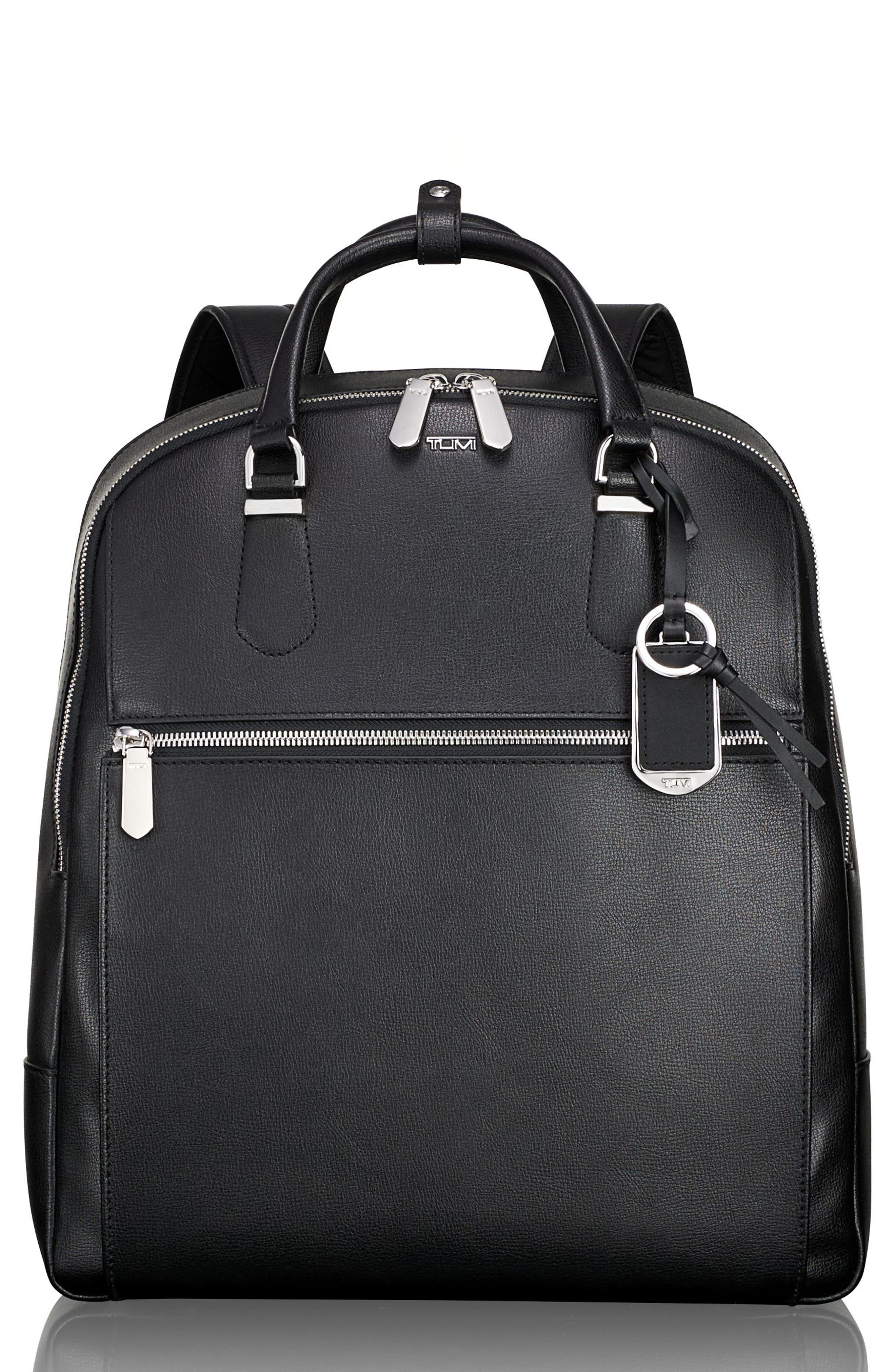 Stanton Orion Leather Backpack,                             Main thumbnail 1, color,                             001