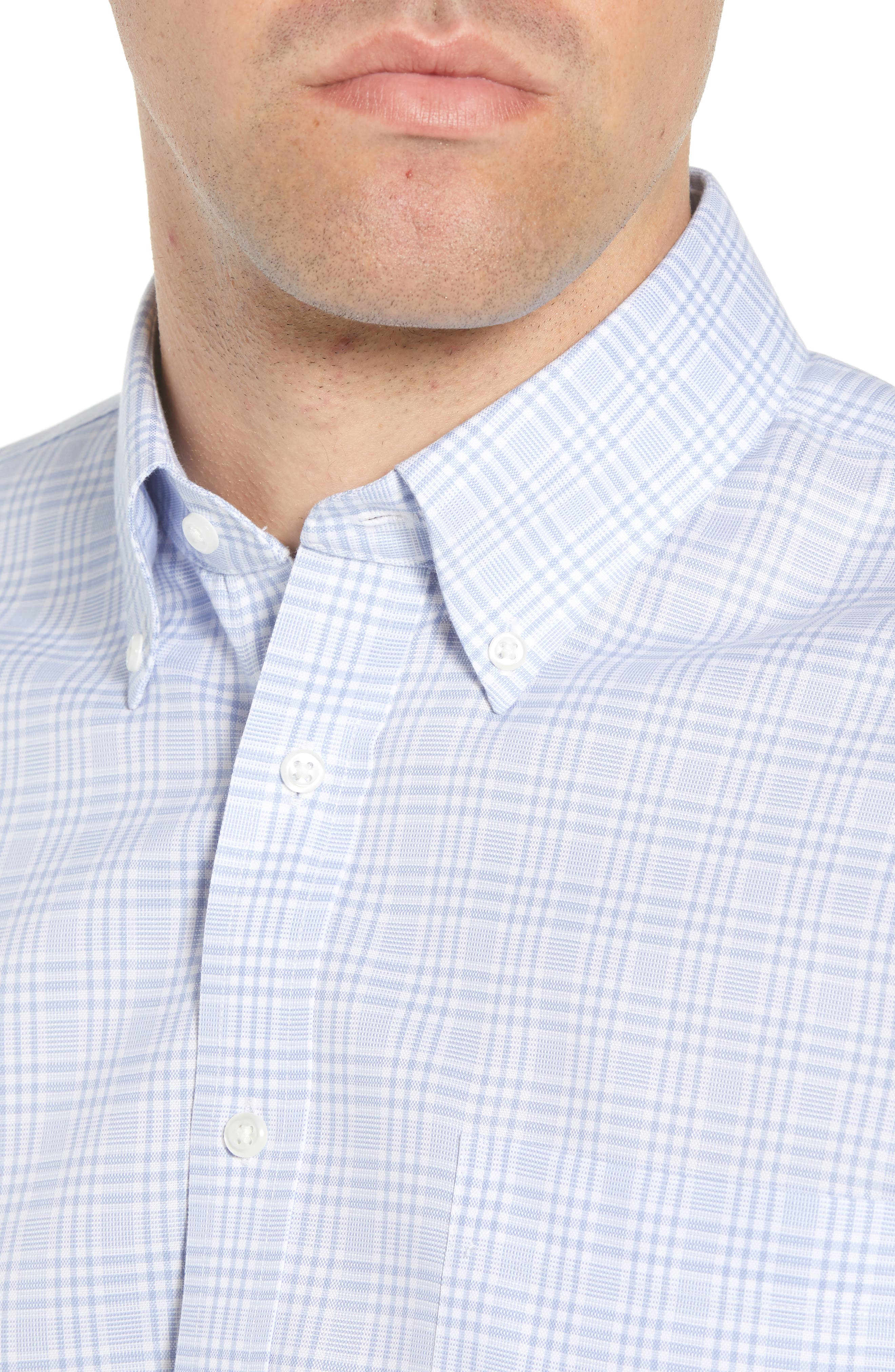 Smartcare<sup>™</sup> Traditional Fit Plaid Dress Shirt,                             Alternate thumbnail 4, color,