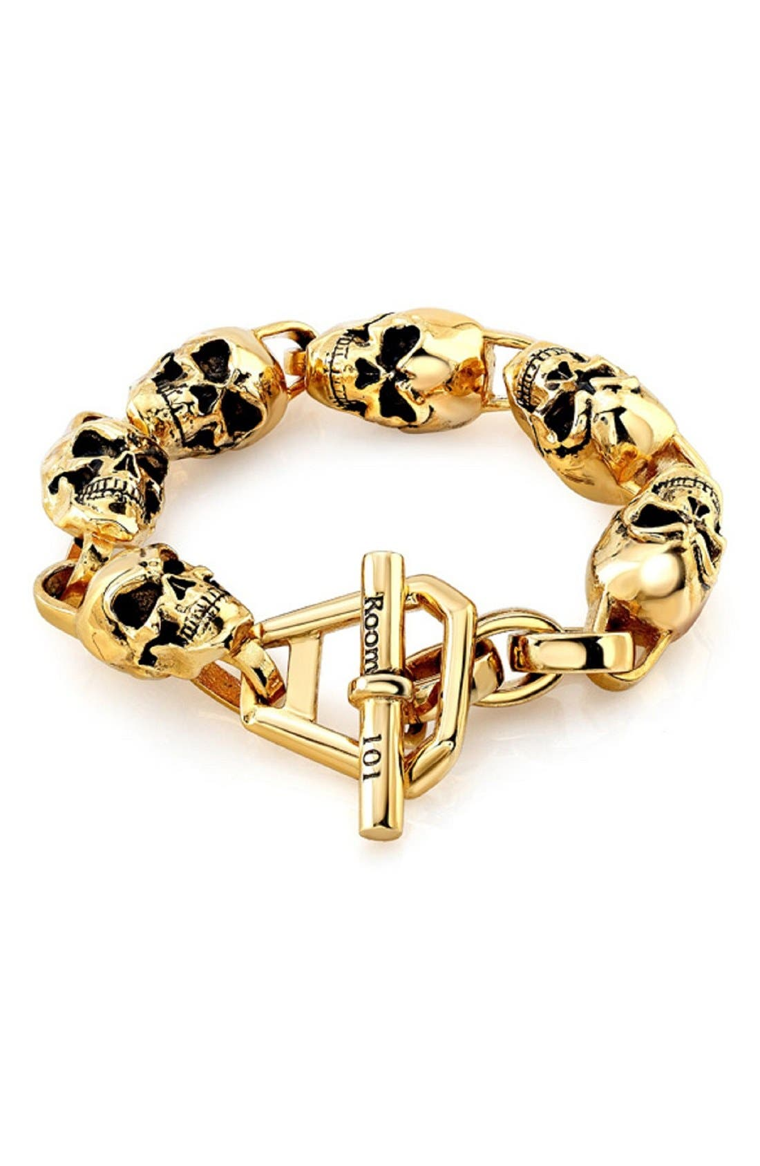 Skull Bracelet,                         Main,                         color, GOLD