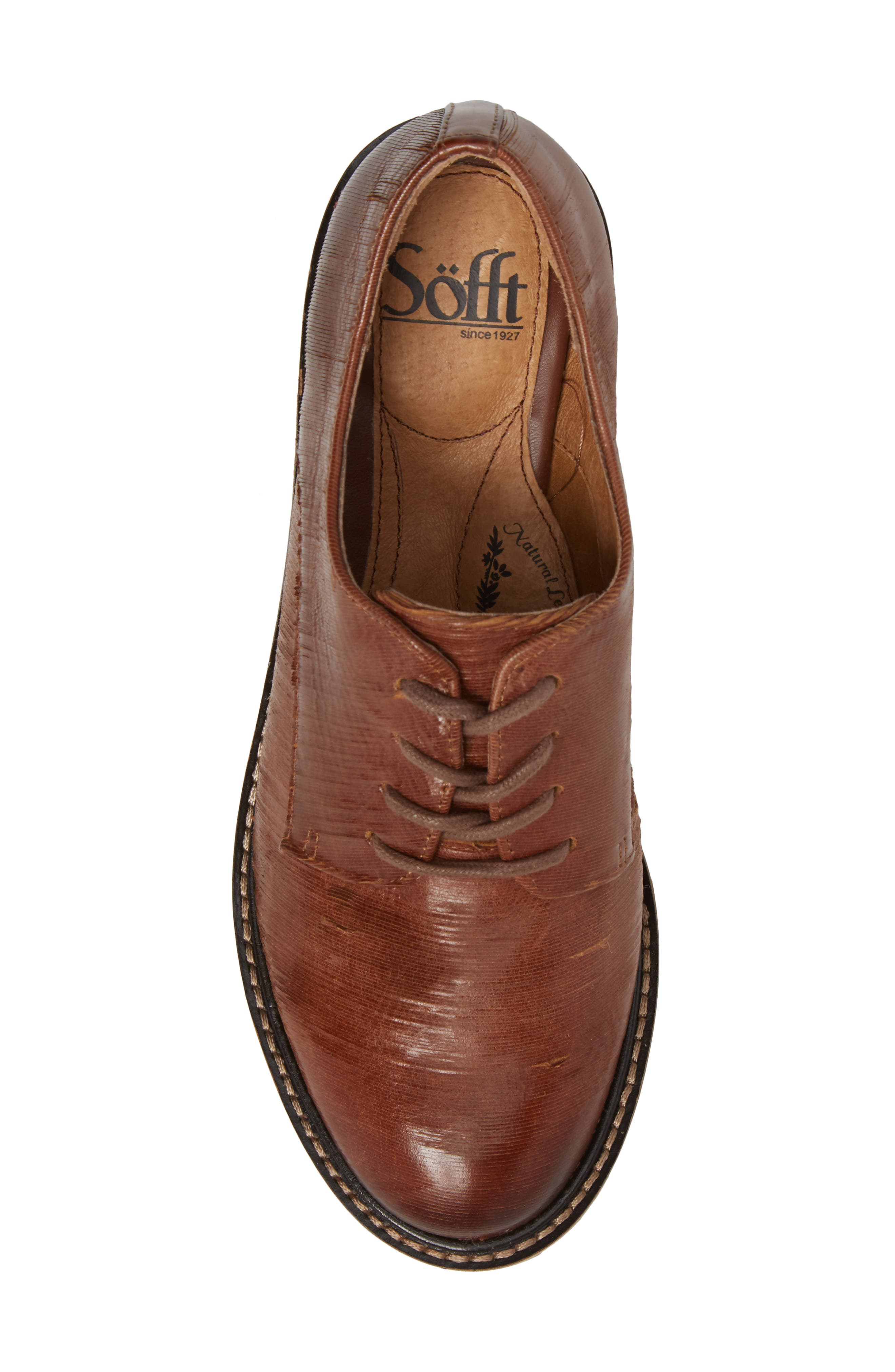 Salerno Oxford,                             Alternate thumbnail 5, color,                             WHISKEY SUEDE
