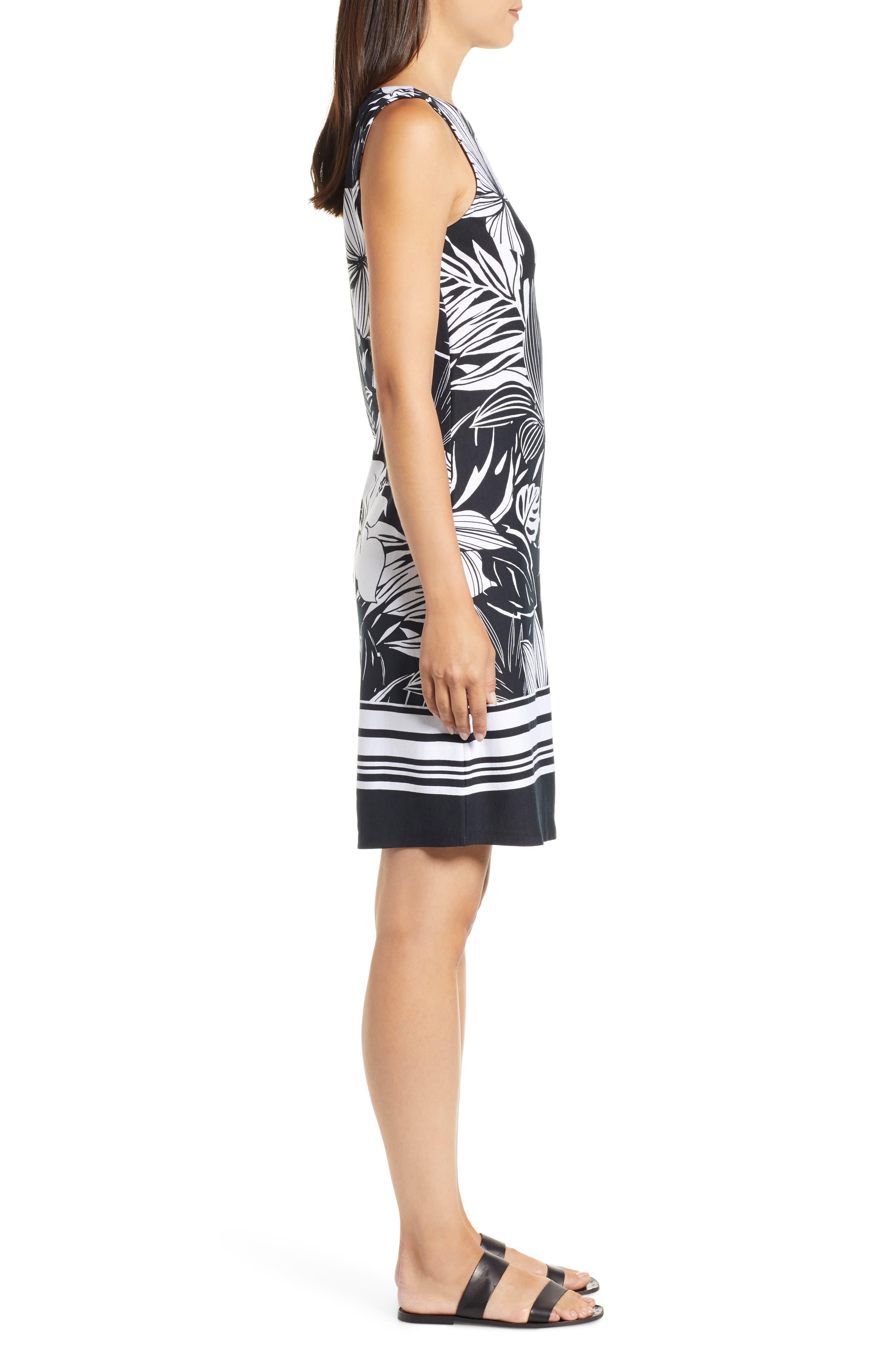 TOMMY BAHAMA,                             Mahana Beach Sheath Dress,                             Alternate thumbnail 3, color,                             BLACK