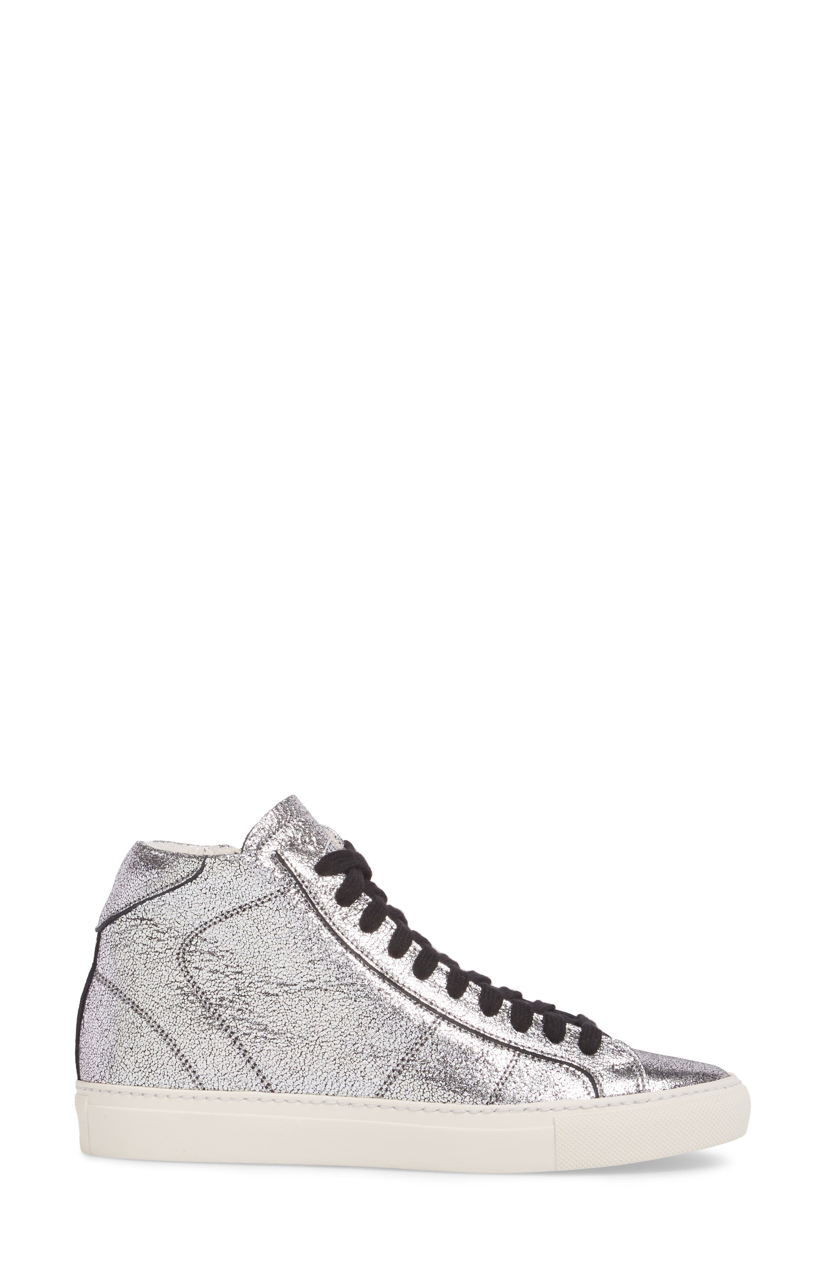 Star 2.0 Sneaker,                             Alternate thumbnail 3, color,                             SILVER LEATHER
