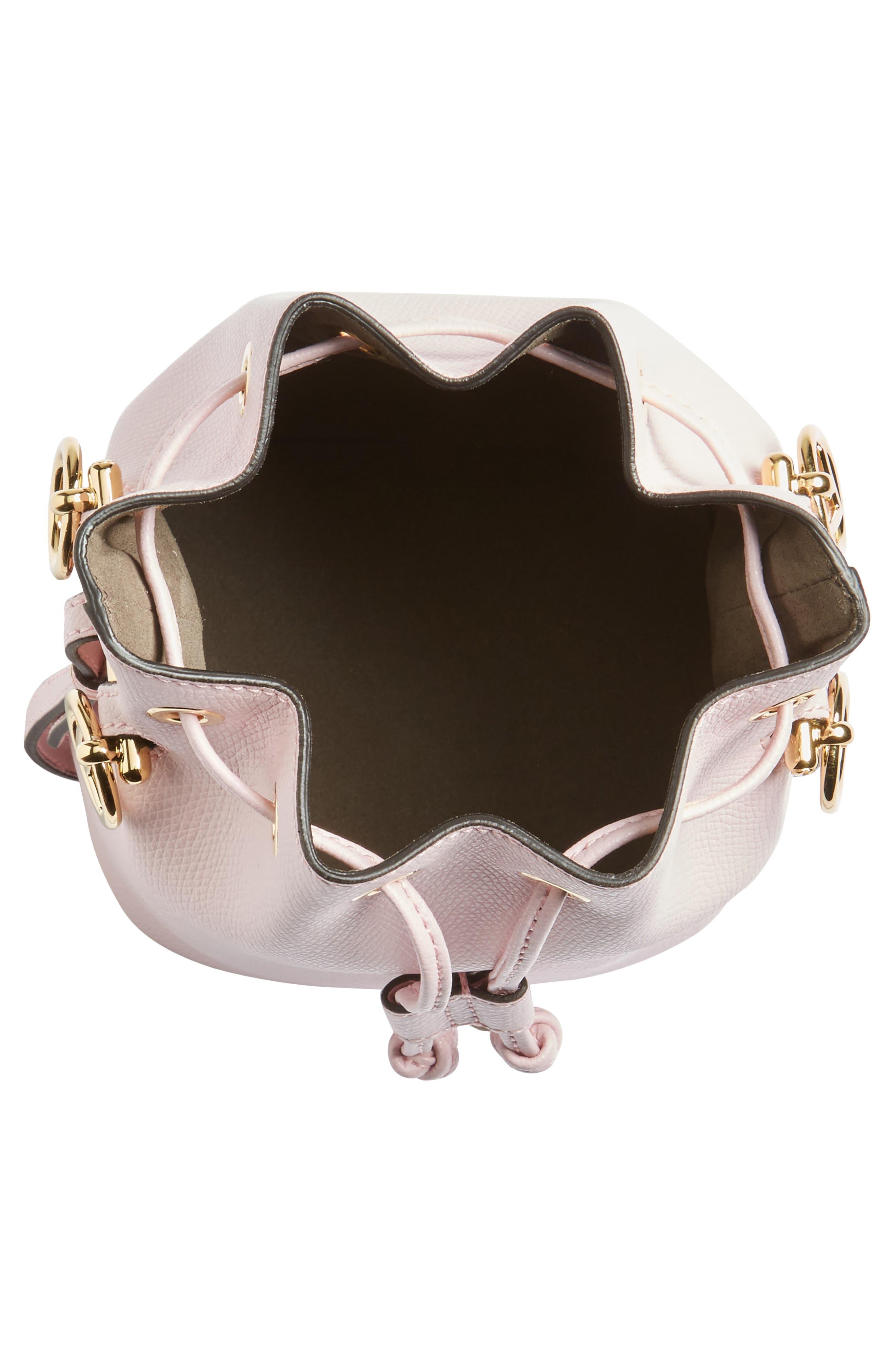 Mini Leather Bucket Bag,                             Alternate thumbnail 8, color,