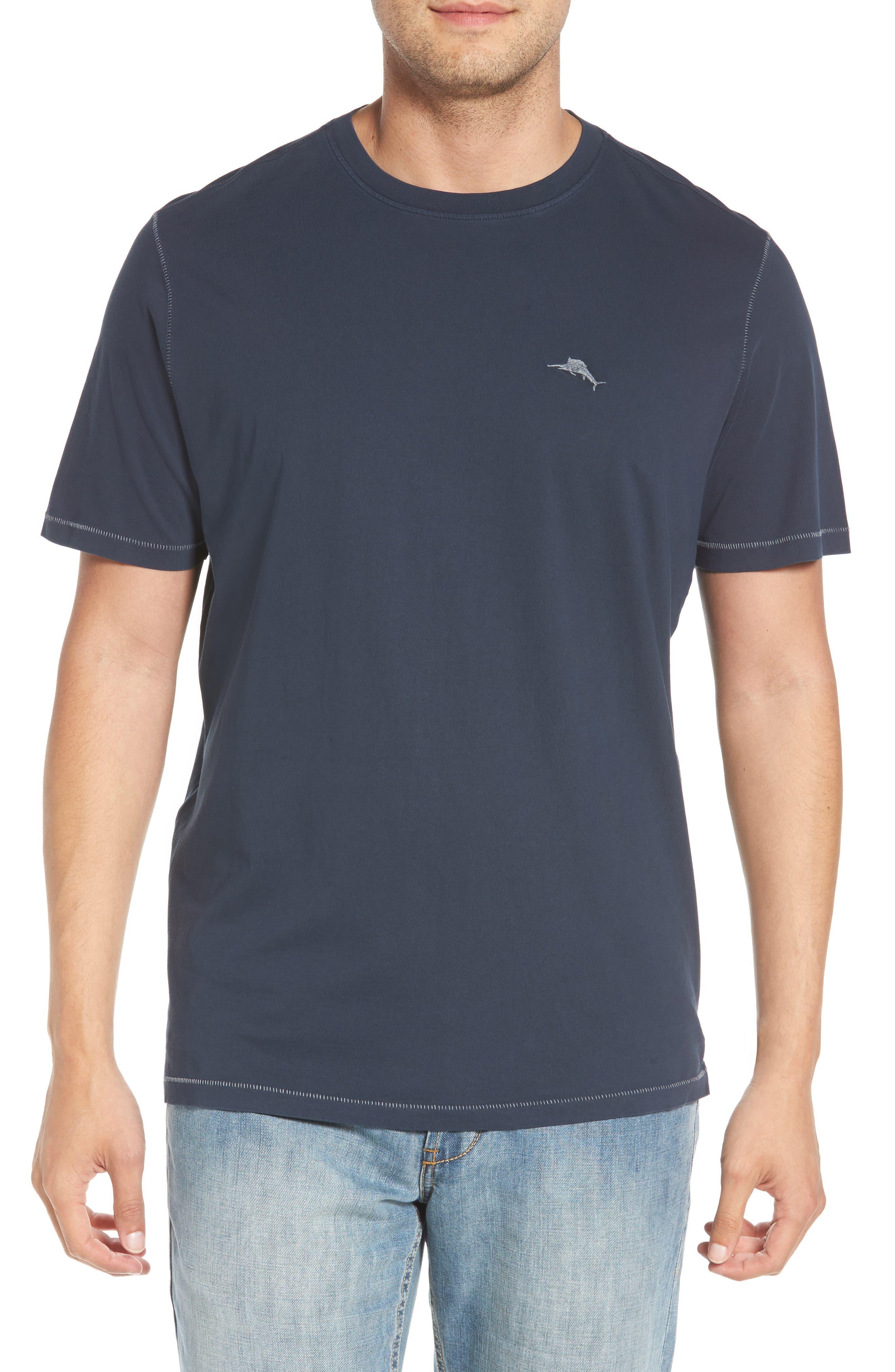 Beach Crewneck T-Shirt,                         Main,                         color, BLUE NOTE