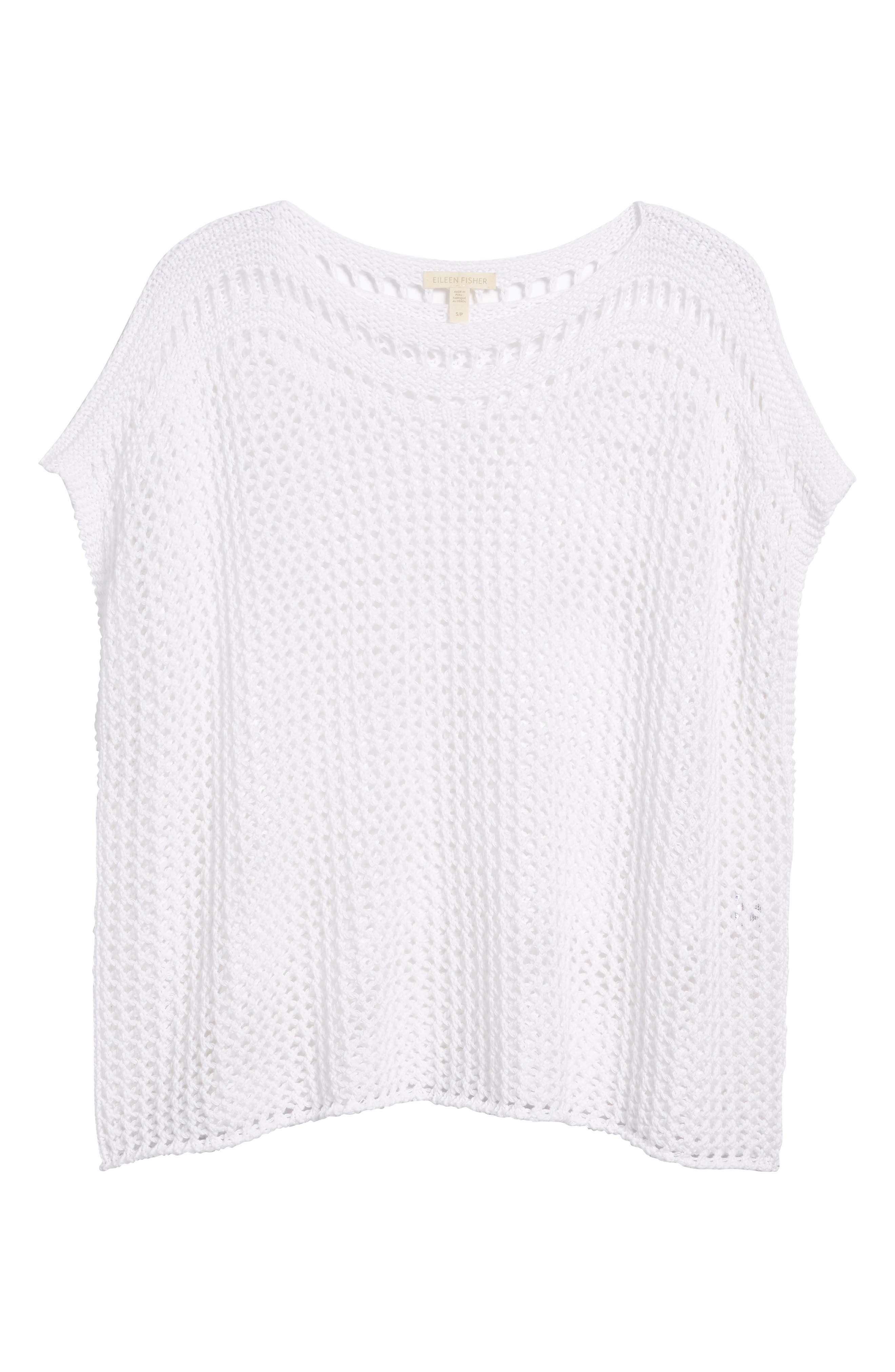 Organic Cotton Sweater,                             Alternate thumbnail 6, color,                             100