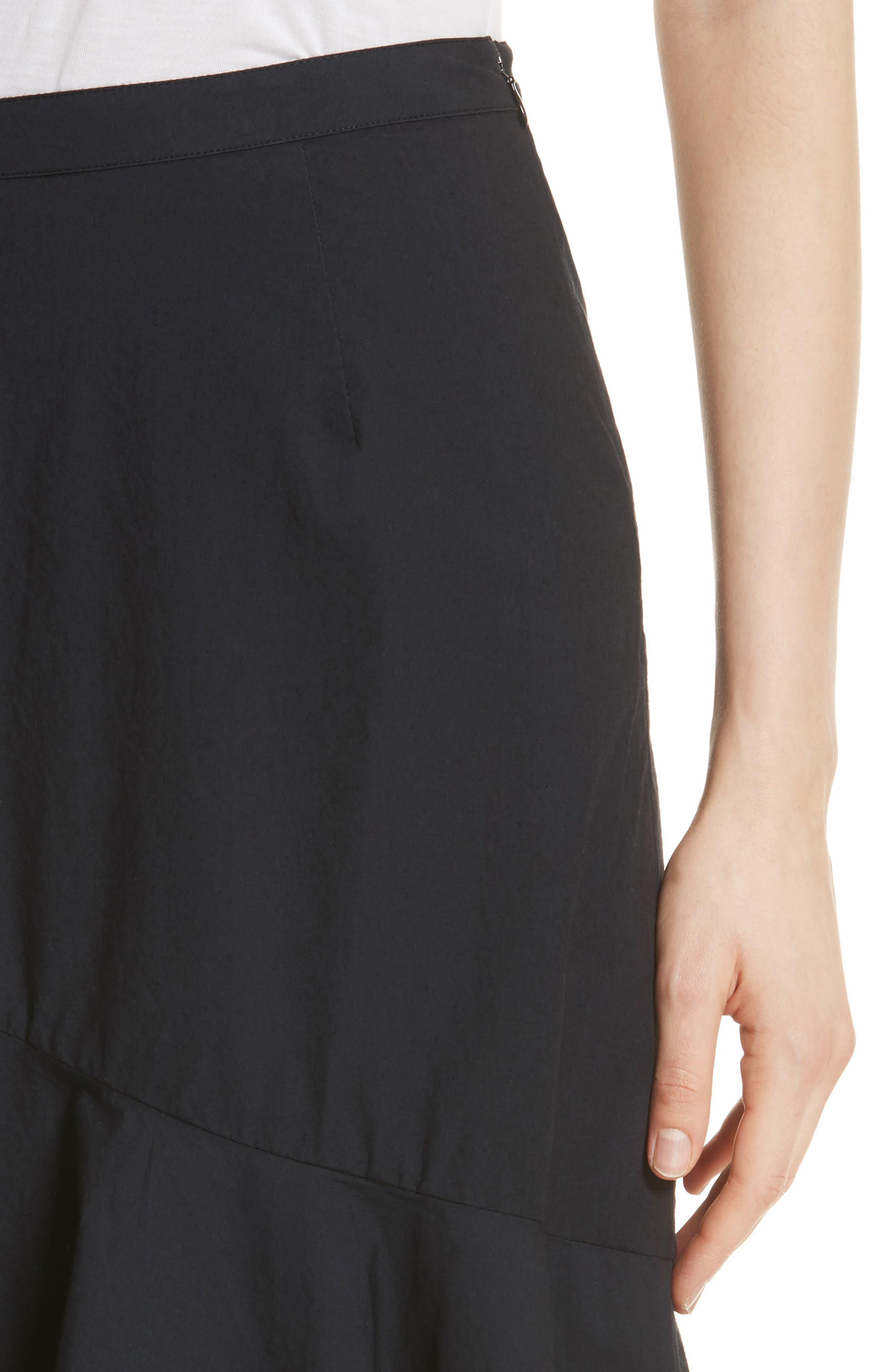 Chesmu Ruffled Cotton Skirt,                             Alternate thumbnail 4, color,                             001