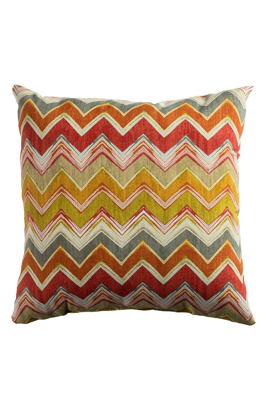 Chevron Outdoor Pillow,                             Main thumbnail 8, color,