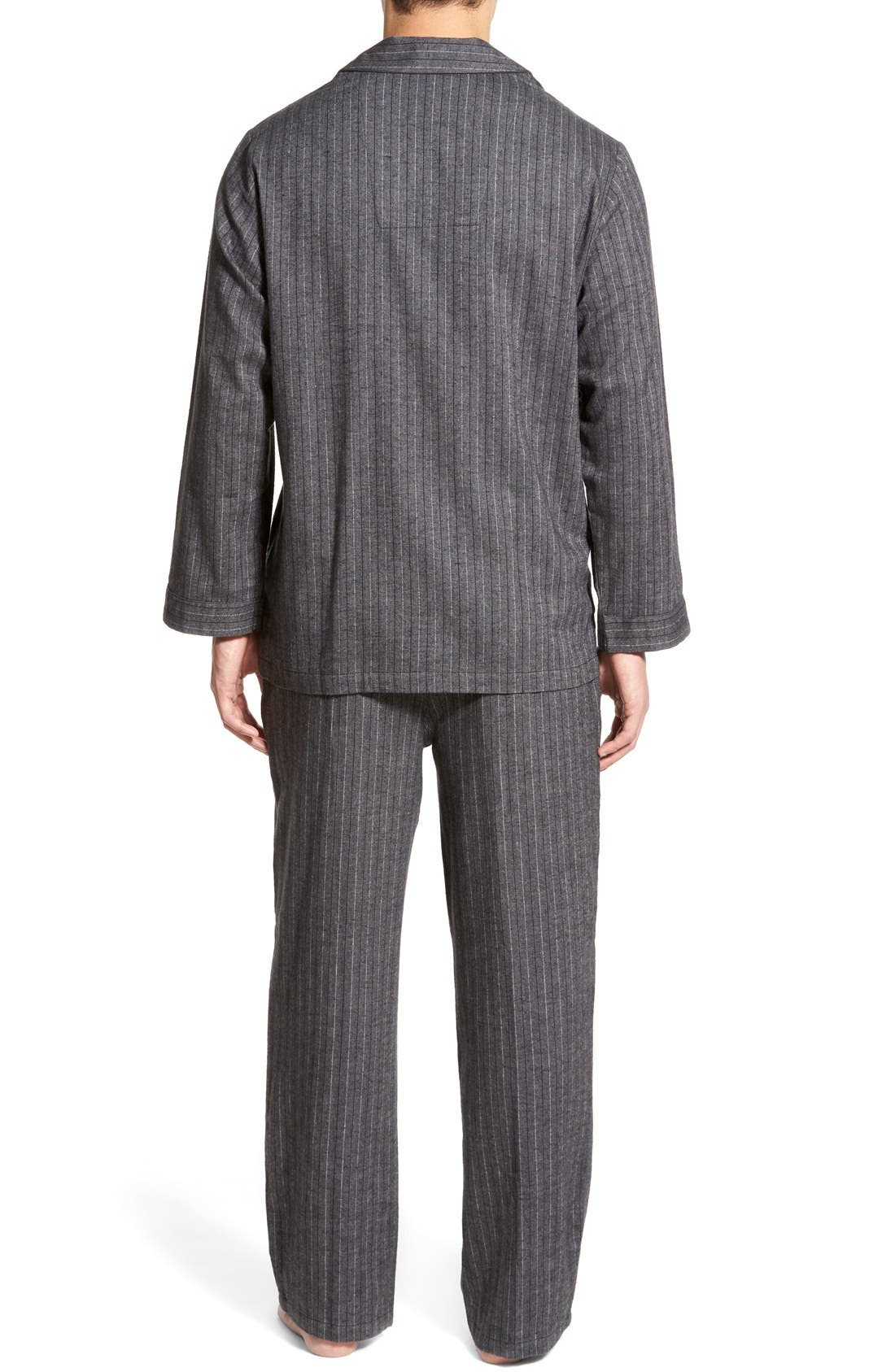 '824' Flannel Pajama Set,                             Alternate thumbnail 108, color,