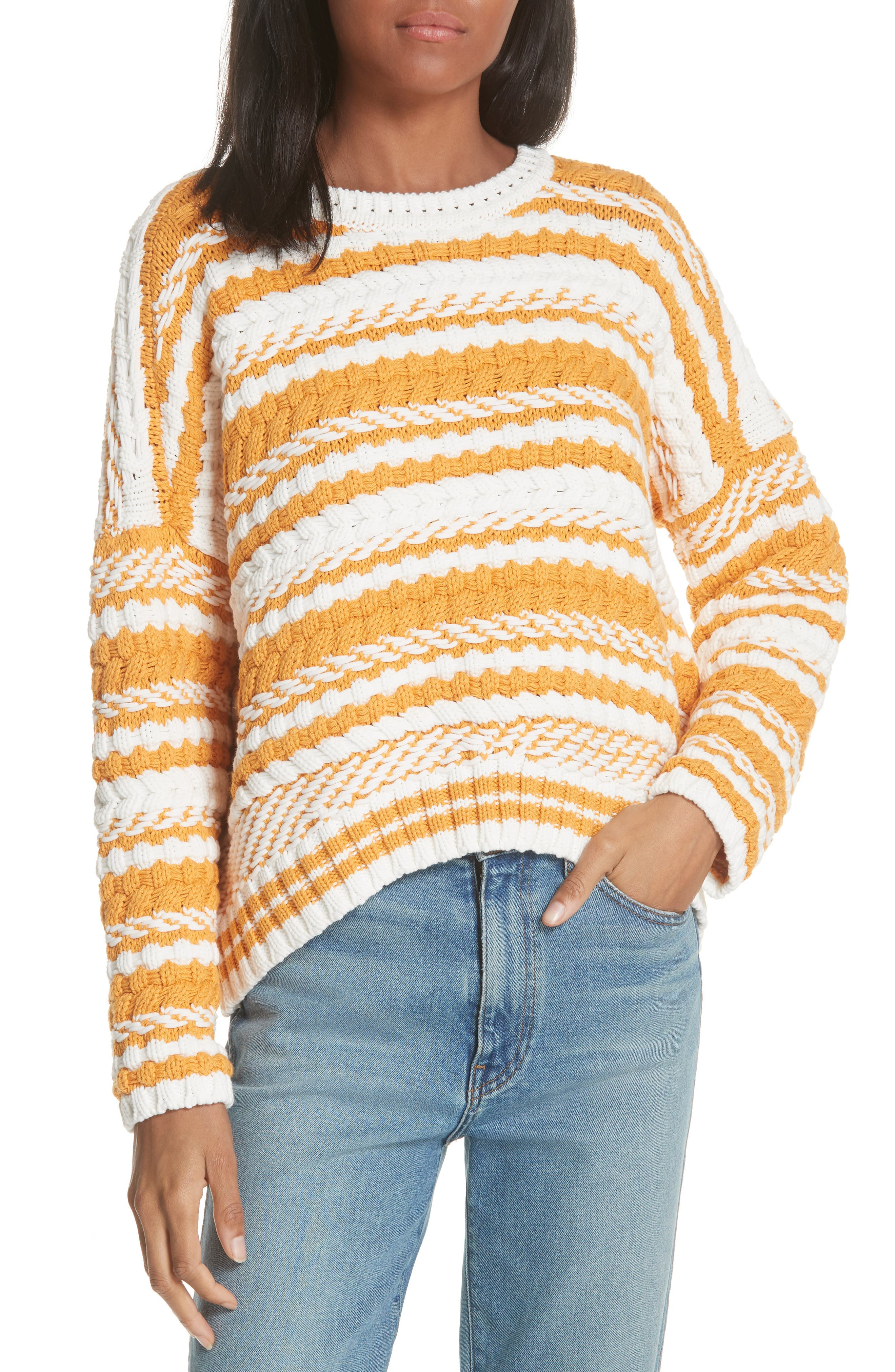Modeste Chunky Stripe Sweater,                             Main thumbnail 1, color,                             800