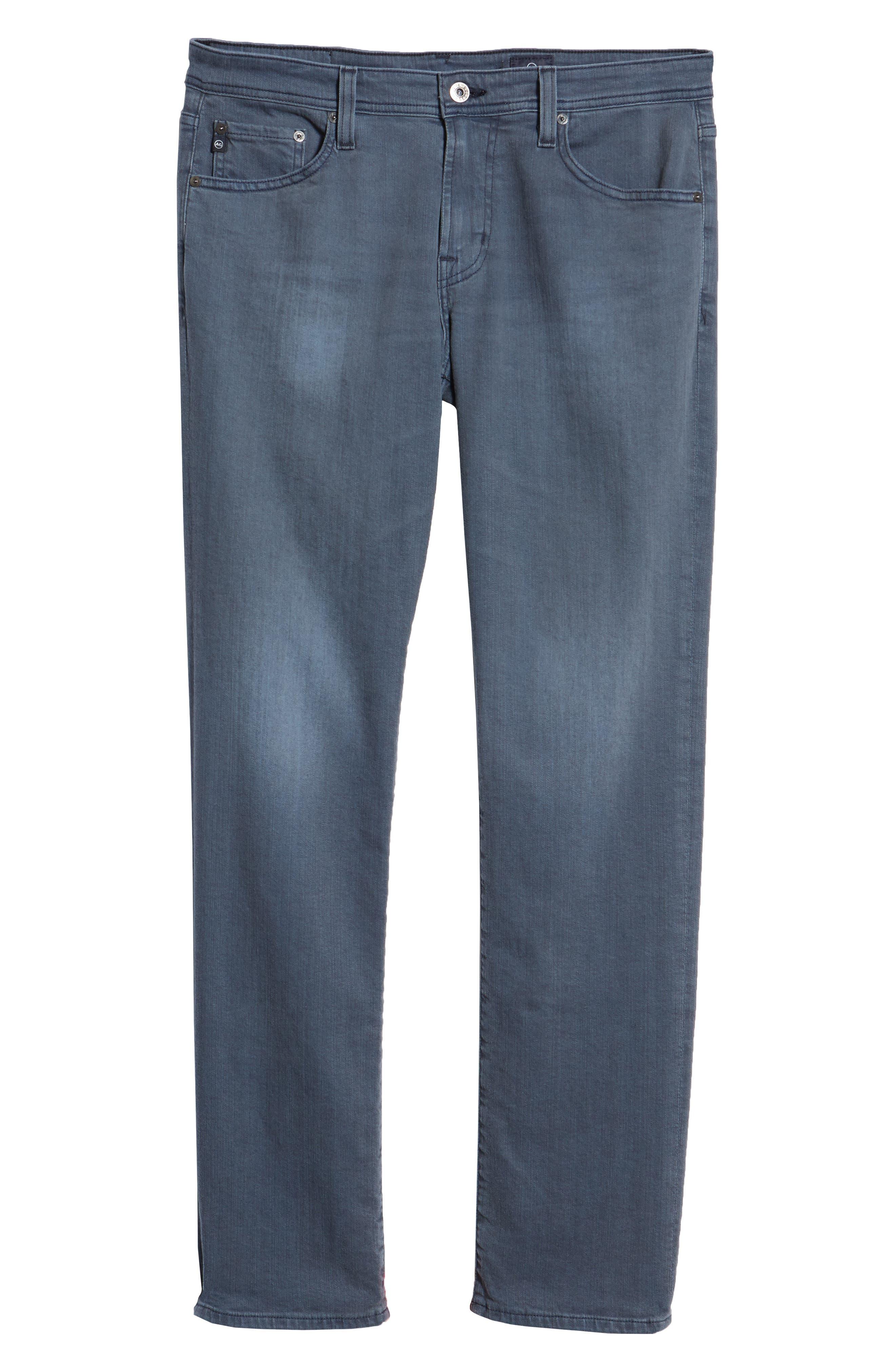 Graduate Slim Straight Leg Jeans,                             Alternate thumbnail 6, color,                             FLUXING TIDES