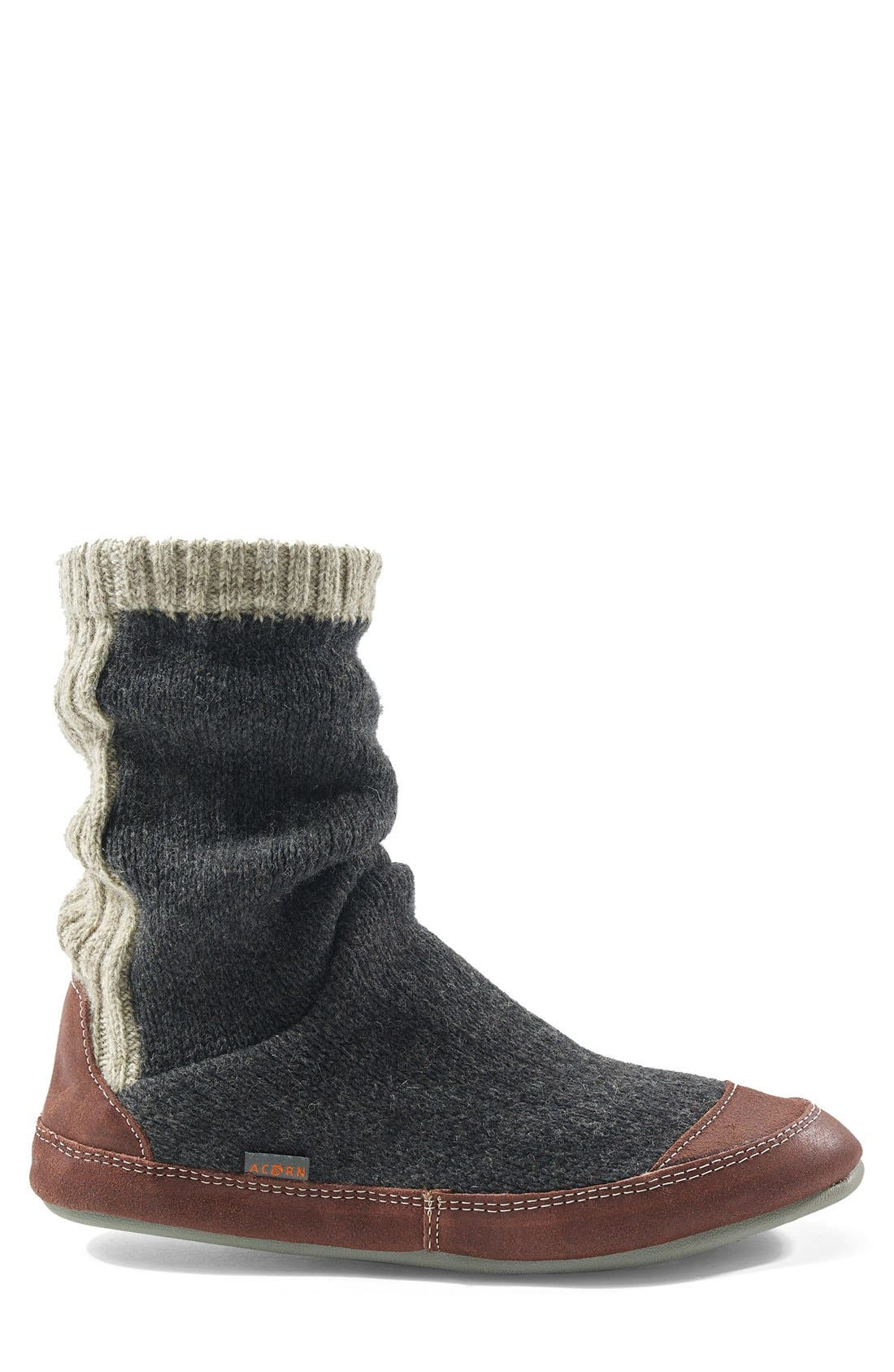 'Slouch Boot' Slipper,                             Alternate thumbnail 2, color,                             CHARCOAL RAGG WOOL