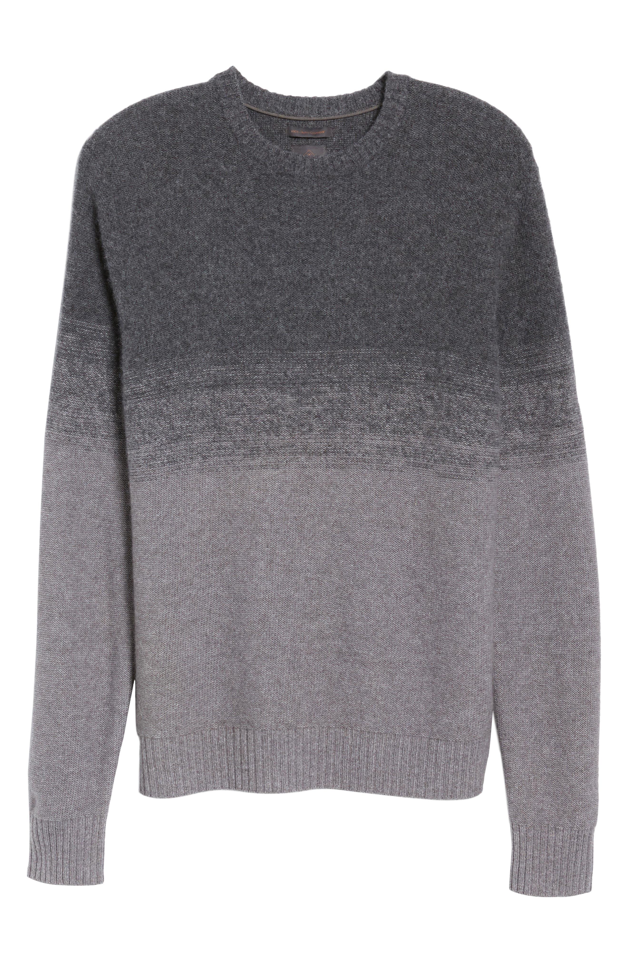 Monte Rosse Ombré Cashmere Sweater,                             Alternate thumbnail 6, color,                             030