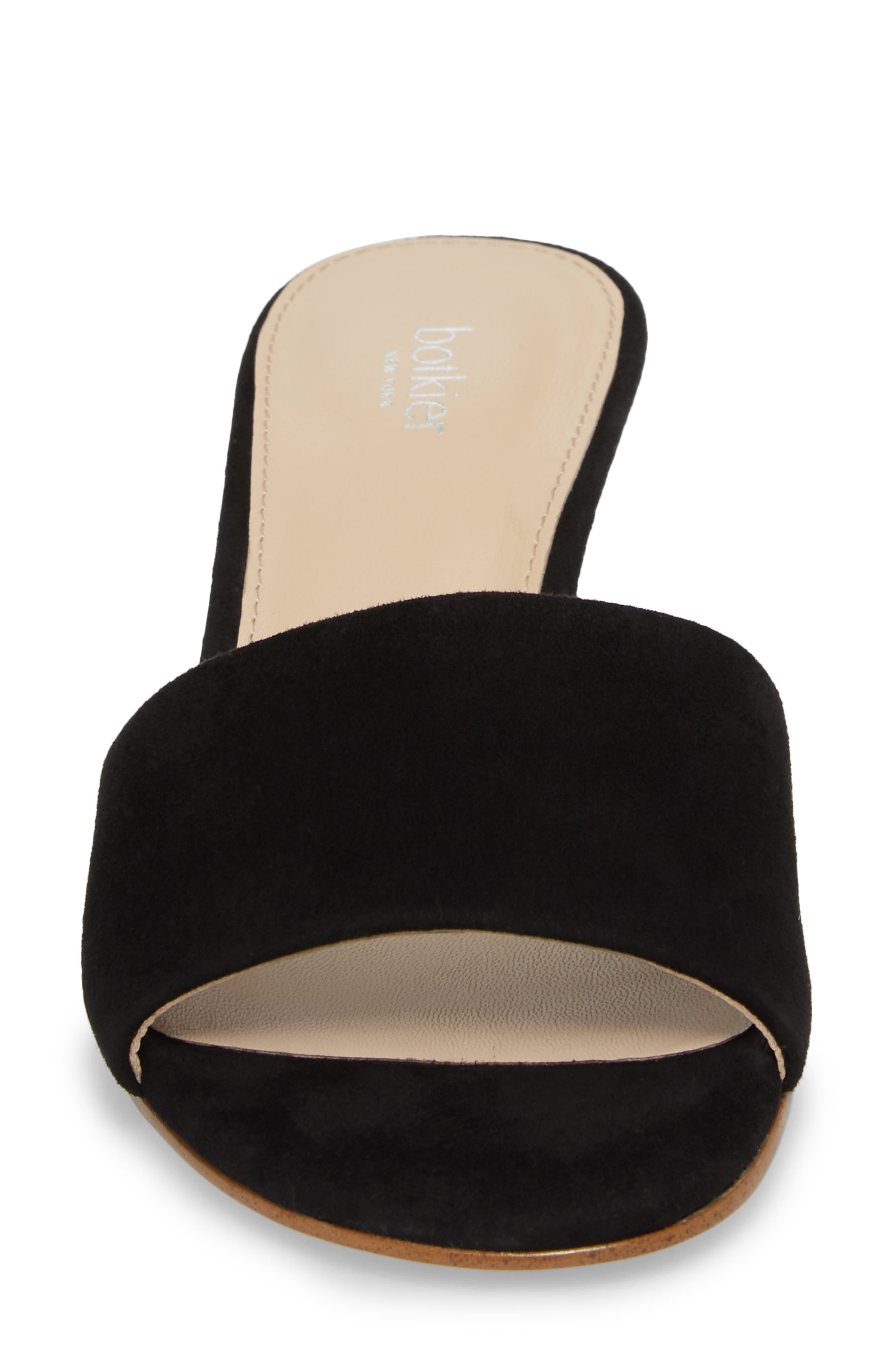 Carlie Mule,                             Alternate thumbnail 4, color,                             BLACK SUEDE