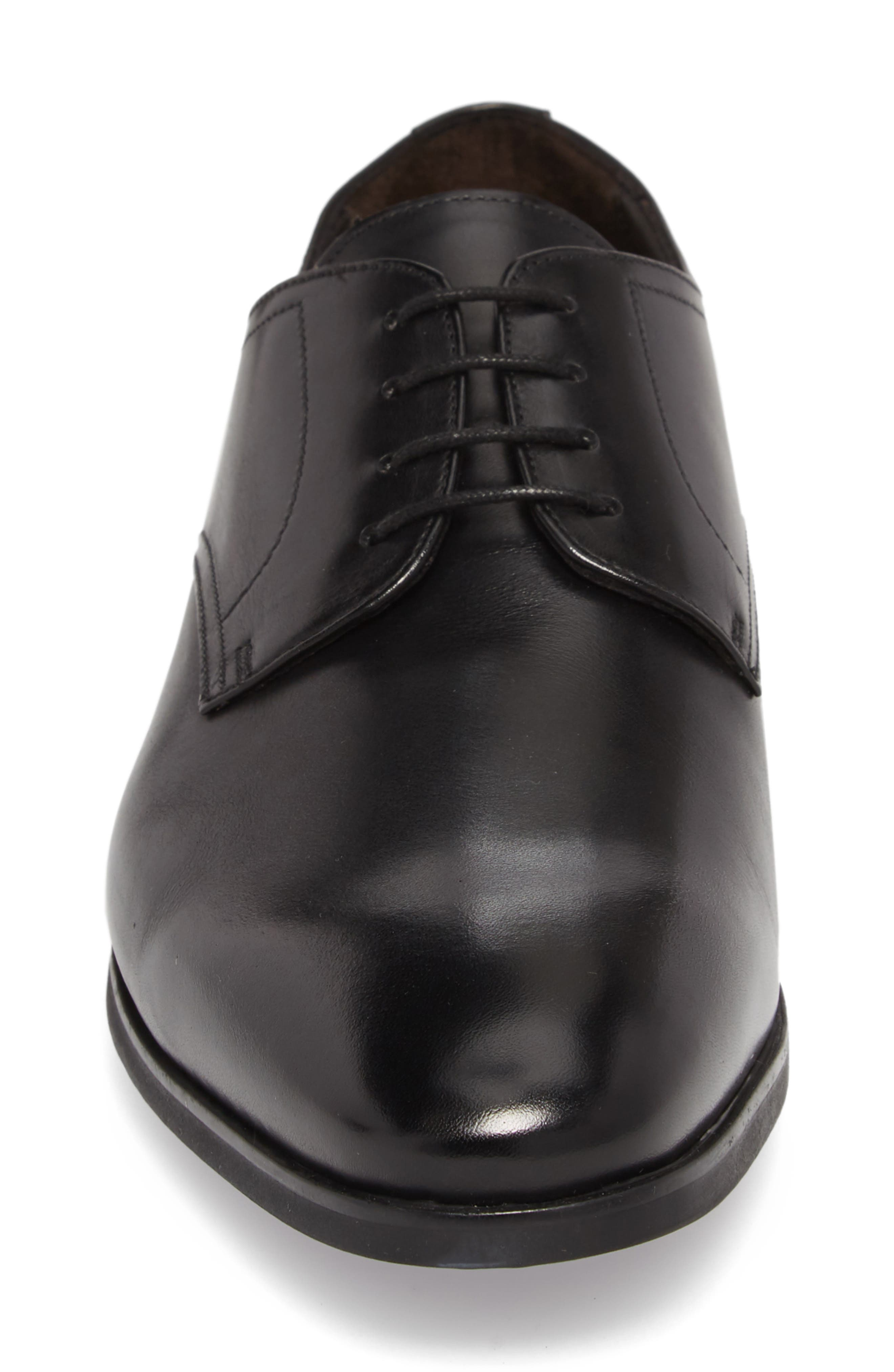 TO BOOT NEW YORK,                             Dwight Plain Toe Derby,                             Alternate thumbnail 4, color,                             BLACK LEATHER