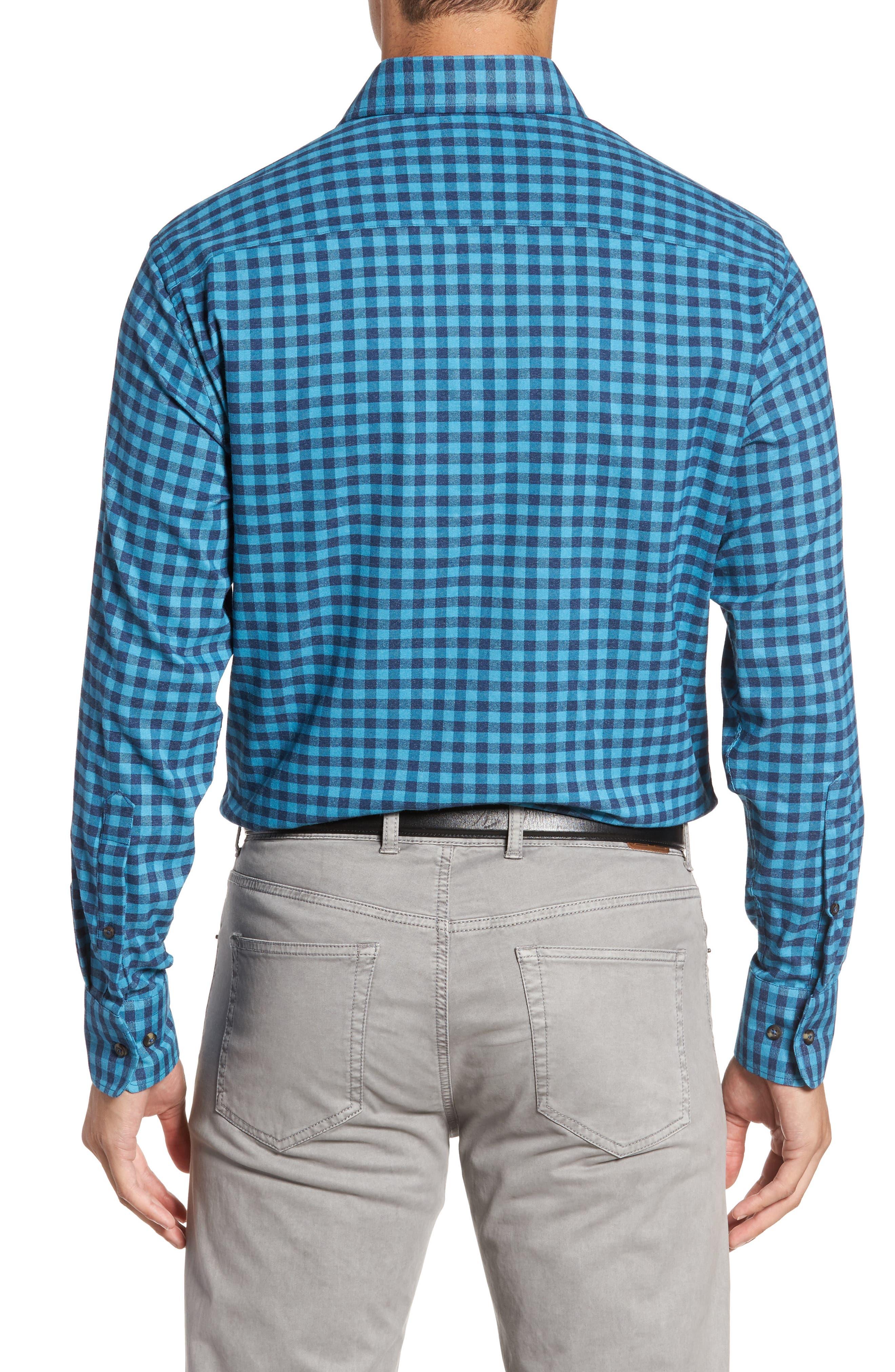 Vedder Gingham Regular Fit Performance Sport Shirt,                             Alternate thumbnail 5, color,