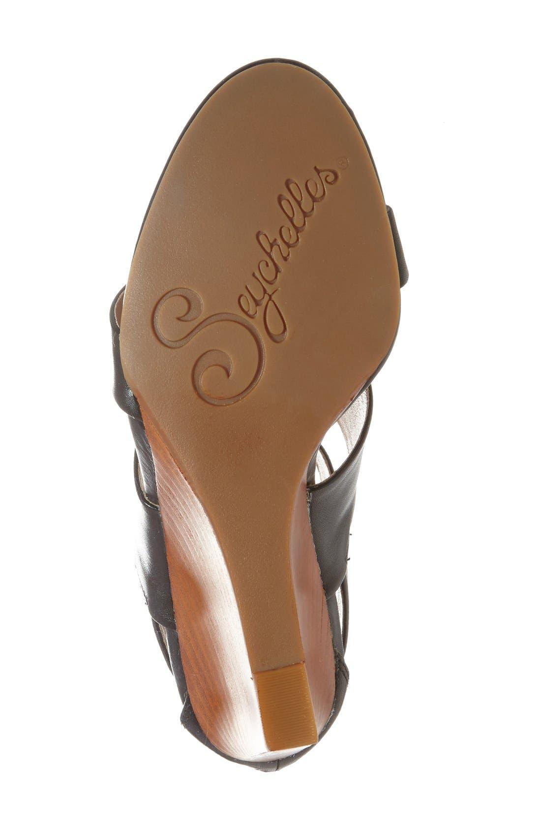 'Suave' Wedge Sandal,                             Alternate thumbnail 3, color,                             001