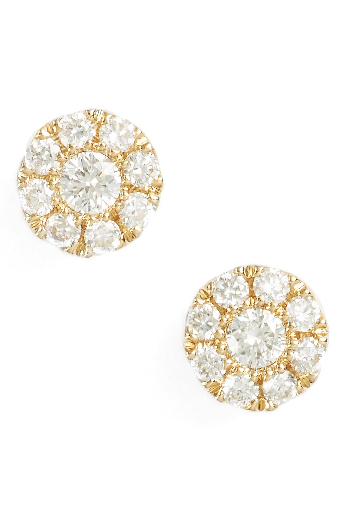 Simple Obsessions Pavé Diamond Stud Earrings,                             Main thumbnail 1, color,                             710
