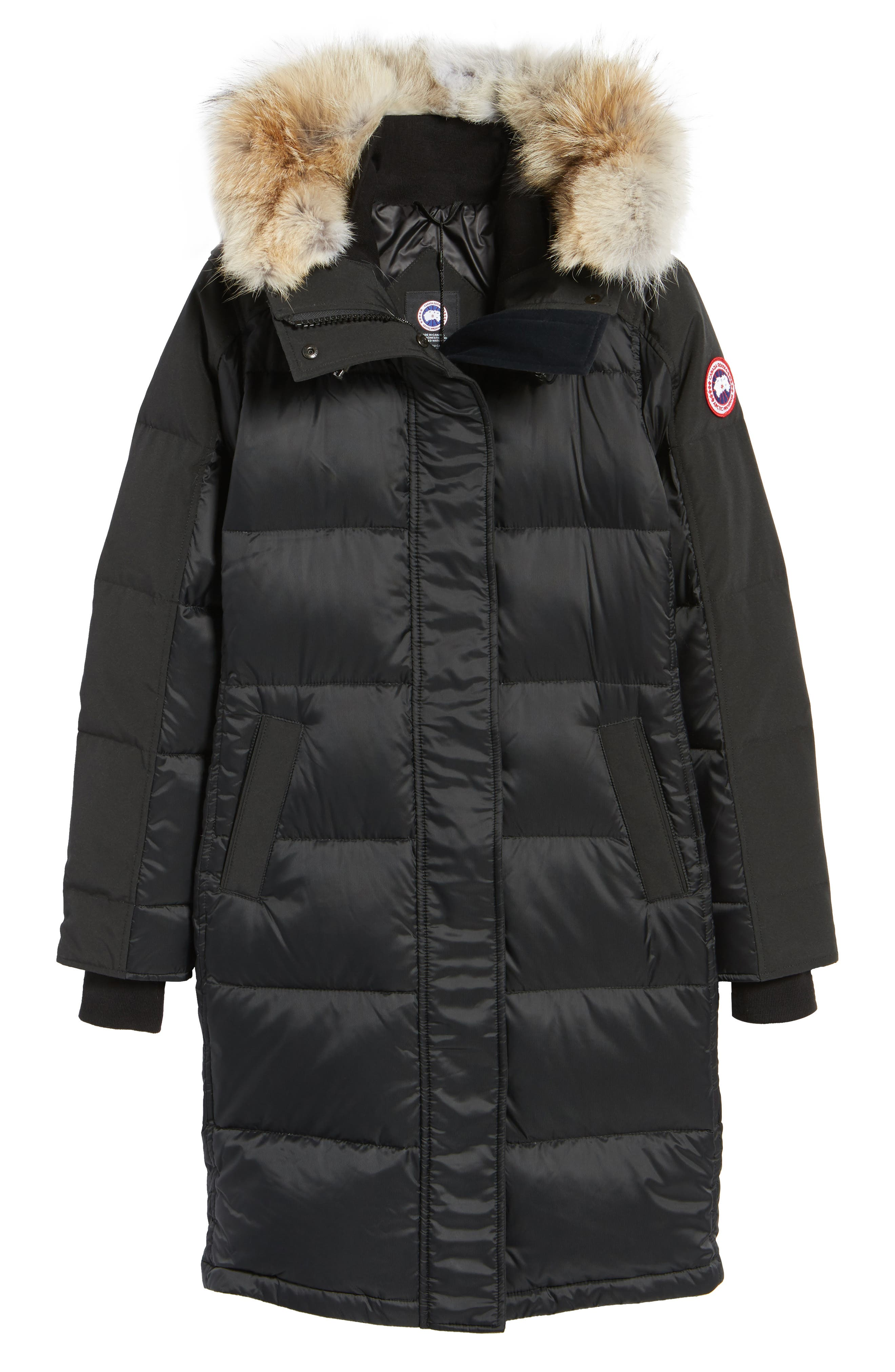 Rowley Down Parka with Genuine Fur Collar,                             Alternate thumbnail 5, color,                             001