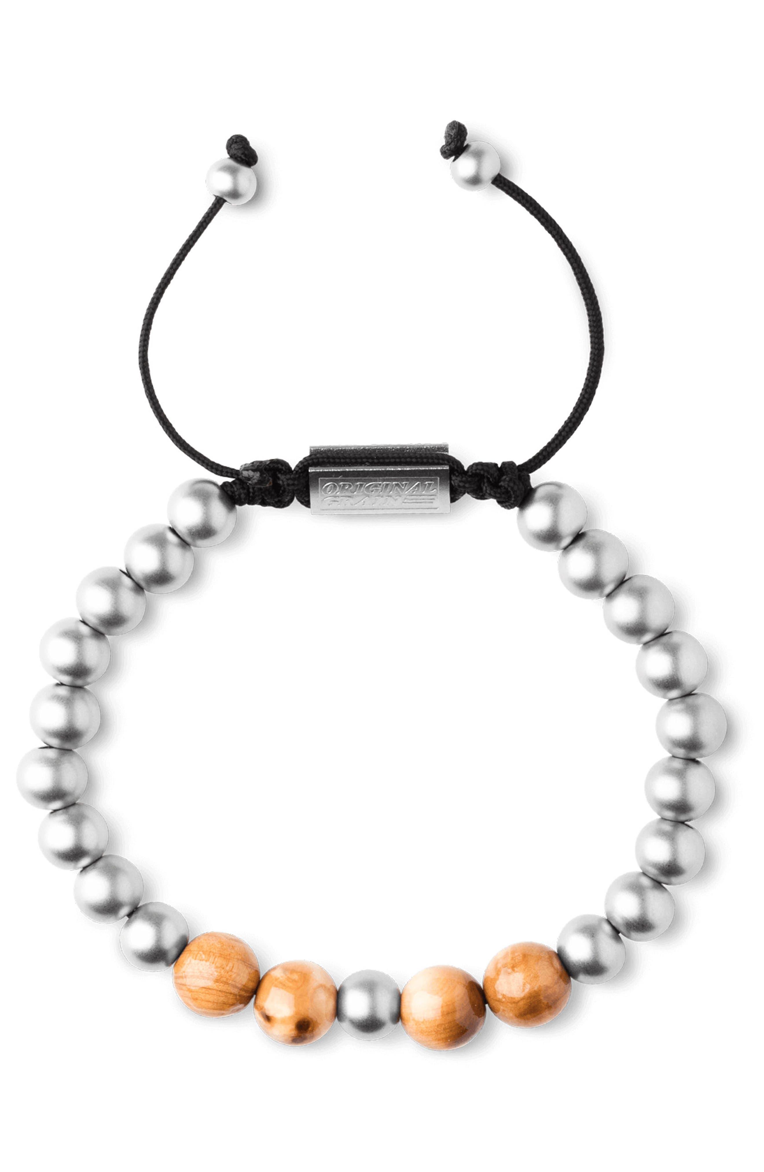 Bead Bracelet,                             Alternate thumbnail 4, color,                             BURLWOOD STEEL