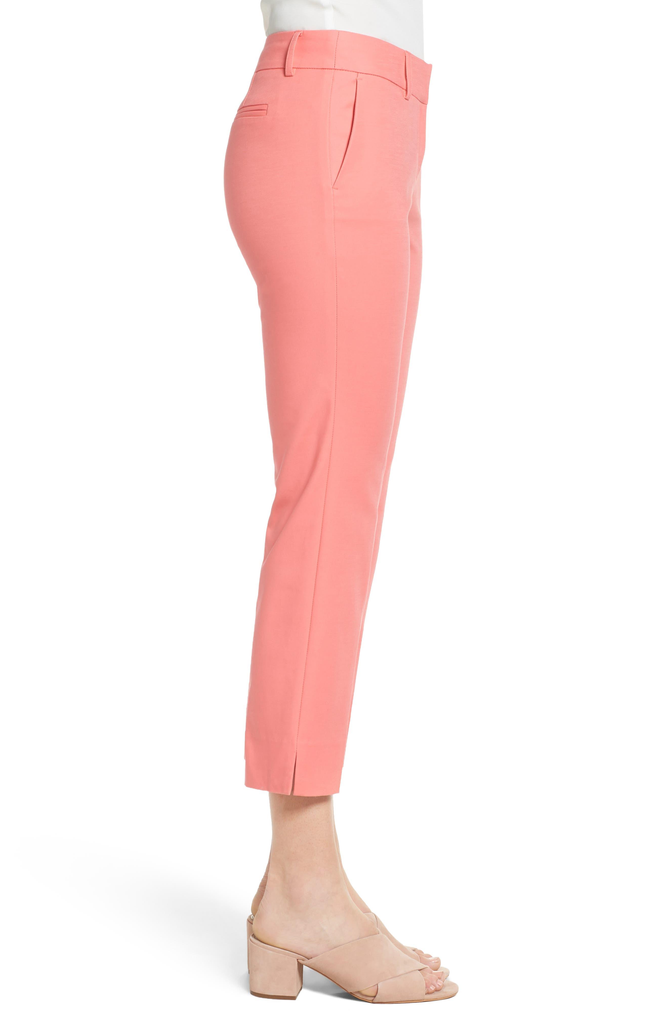 Crop Stretch Cotton Pants,                             Alternate thumbnail 66, color,