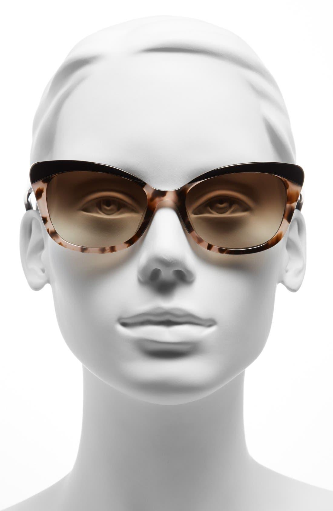 'amaras' 55mm sunglasses,                             Alternate thumbnail 2, color,                             BLACK/ BLUSH TORT