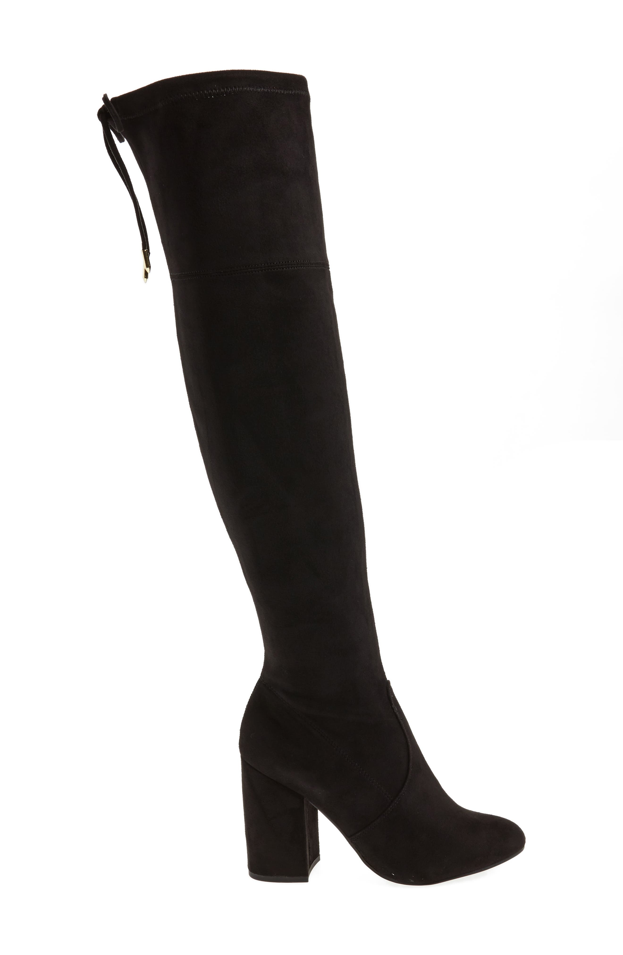 Niela Stretchy Over the Knee Boot,                             Alternate thumbnail 3, color,                             001