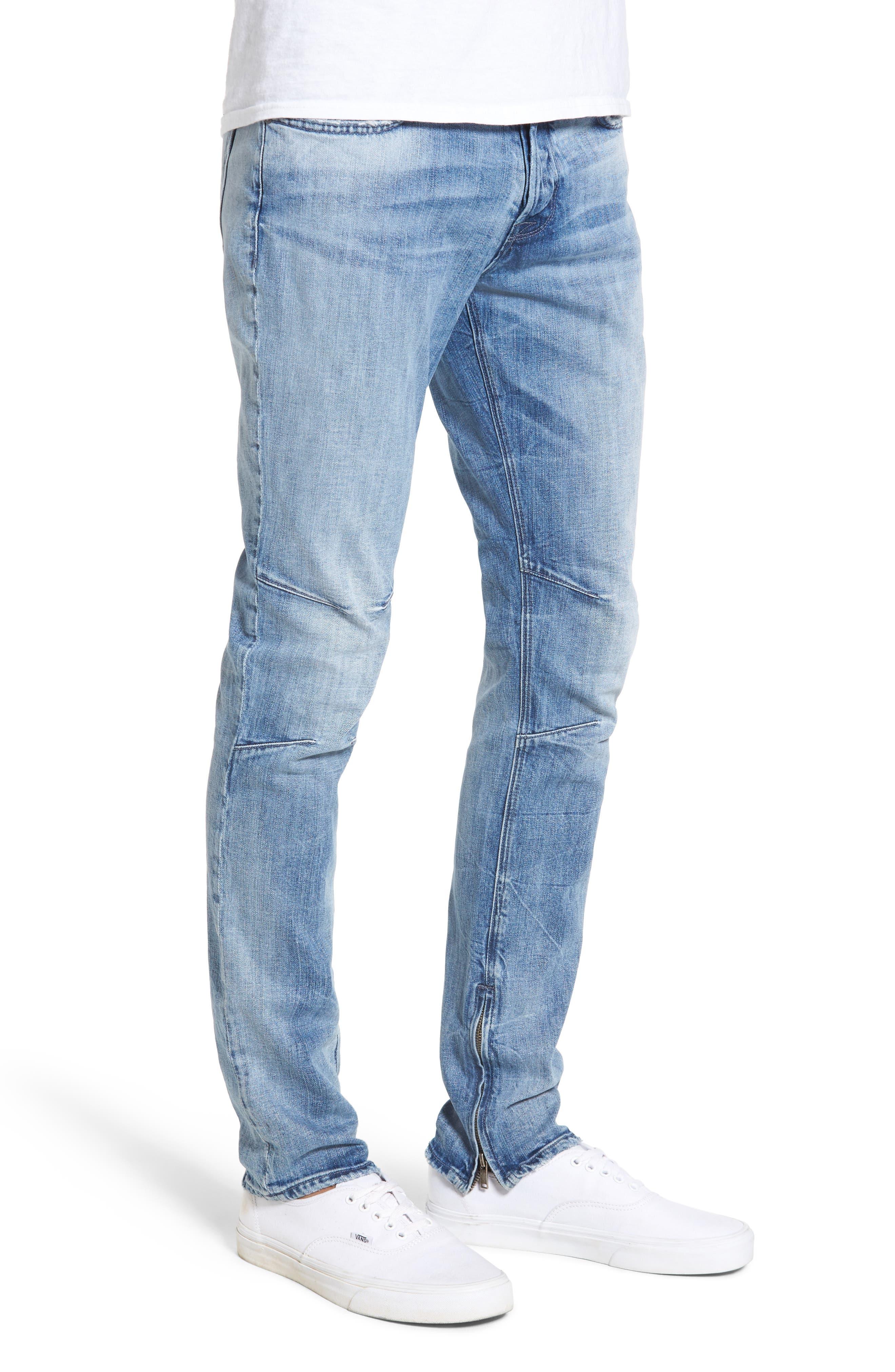 Vaughn Biker Skinny Fit Jeans,                             Alternate thumbnail 3, color,                             451