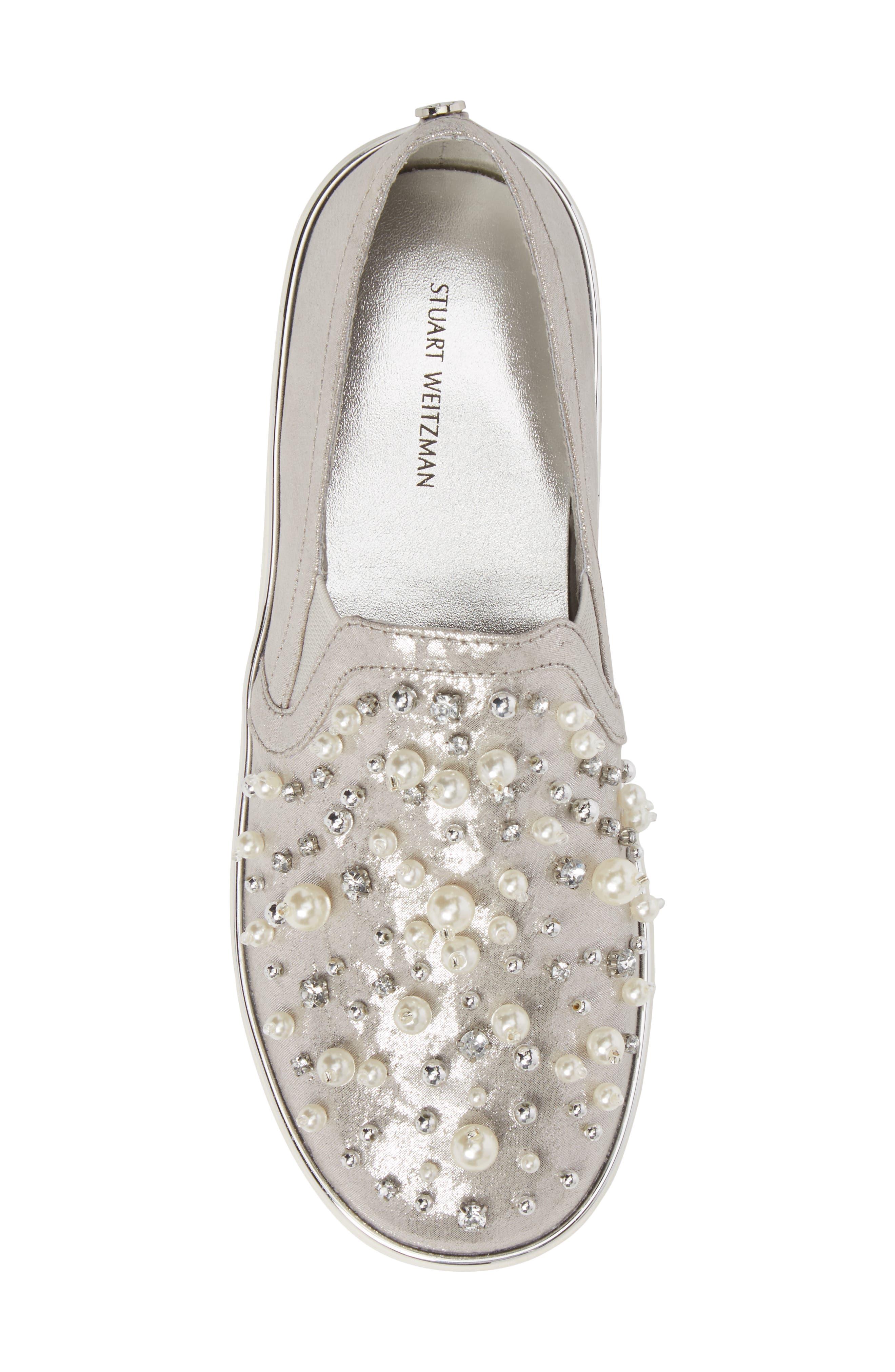 Vance Glitz Embellished Slip-On Sneaker,                             Alternate thumbnail 5, color,                             044