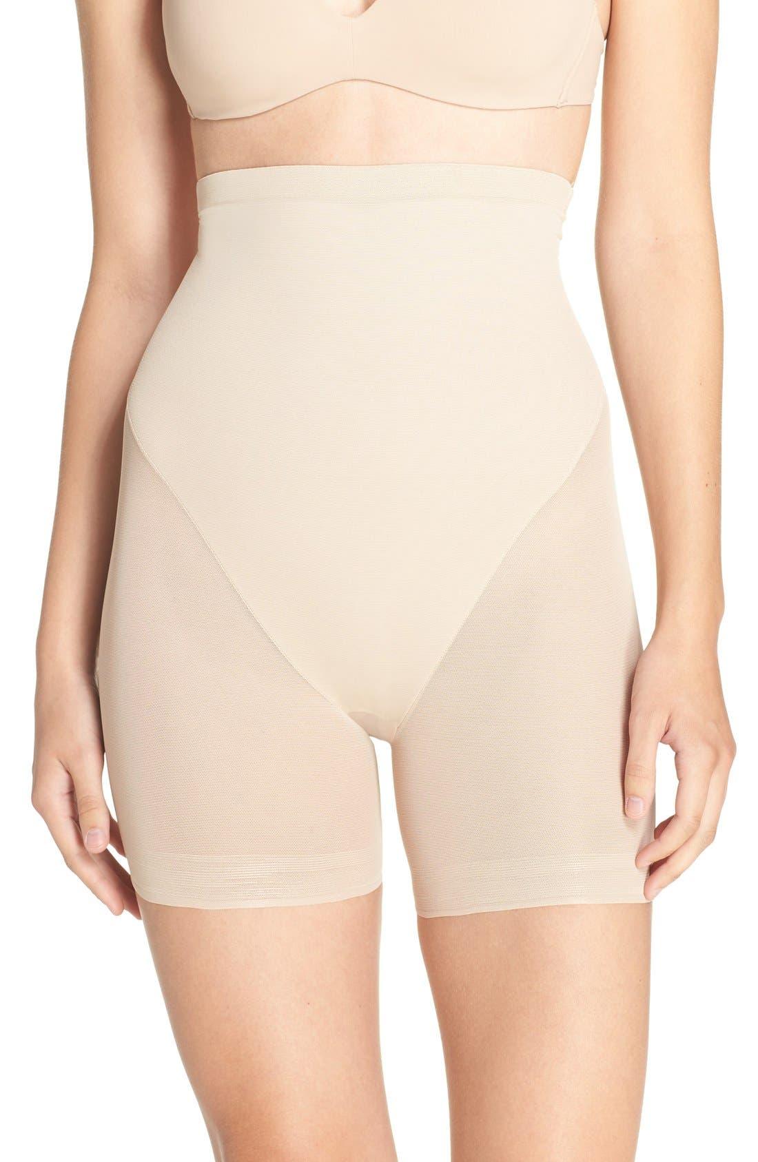 High Waist Shaping Shorts,                             Main thumbnail 2, color,