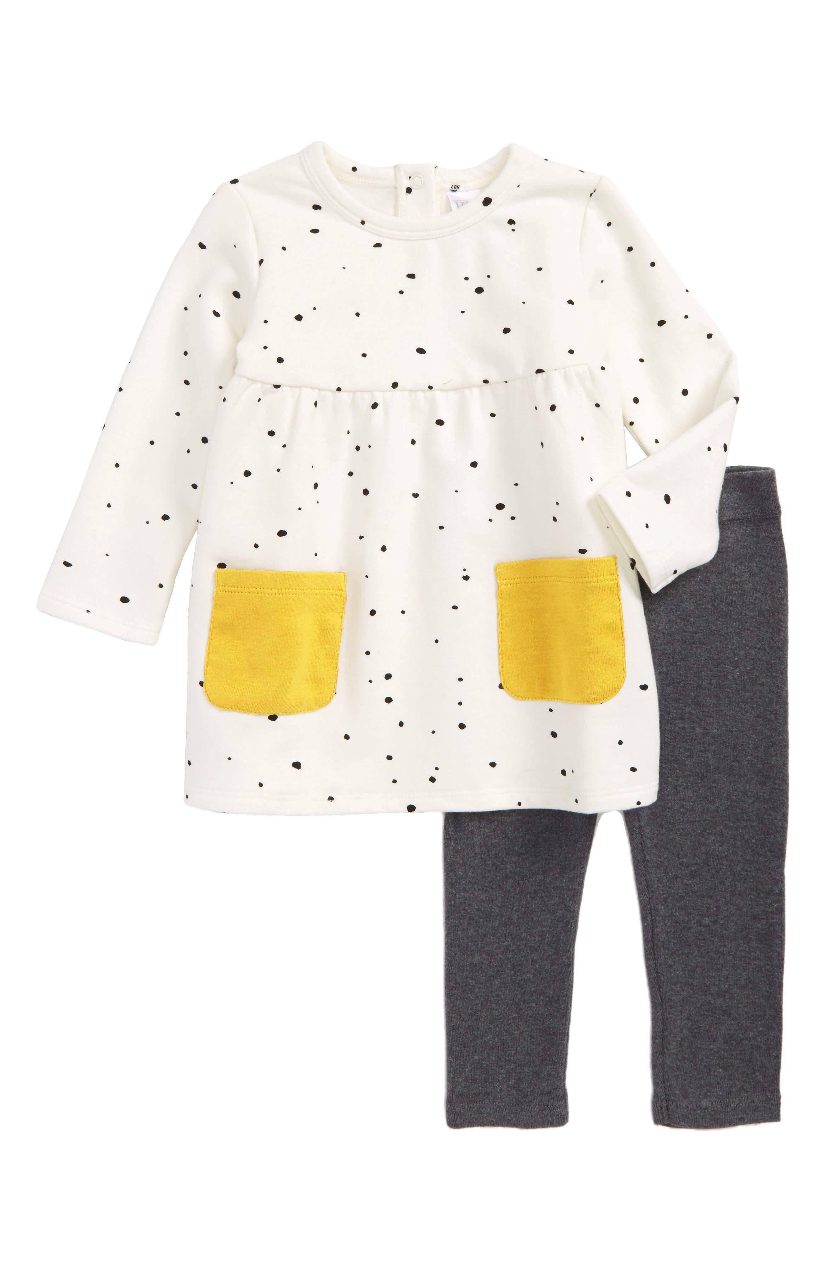 Print Dress & Leggings,                         Main,                         color,