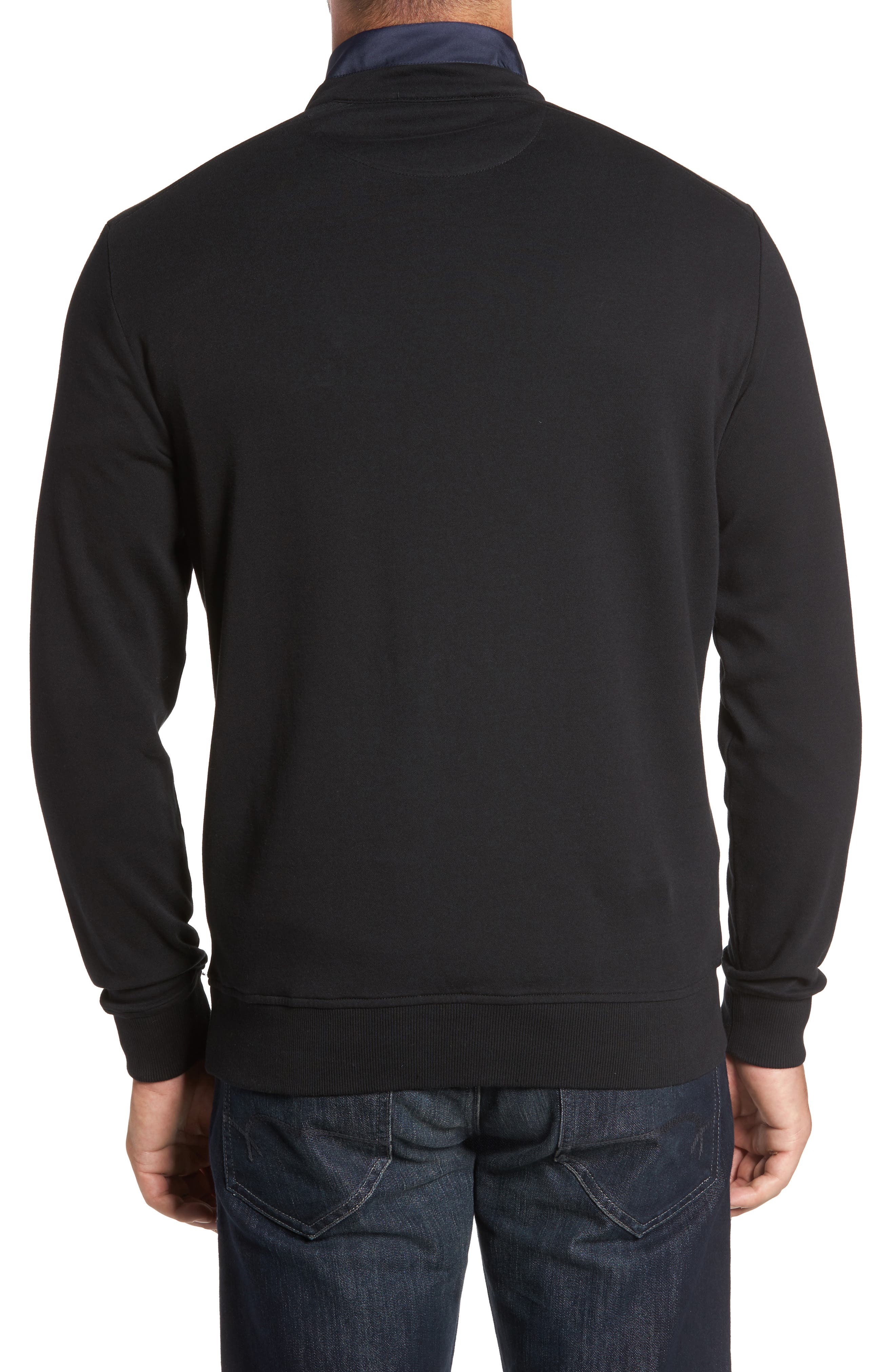 Classic Fit Solid Quarter Zip Pullover,                             Alternate thumbnail 3, color,