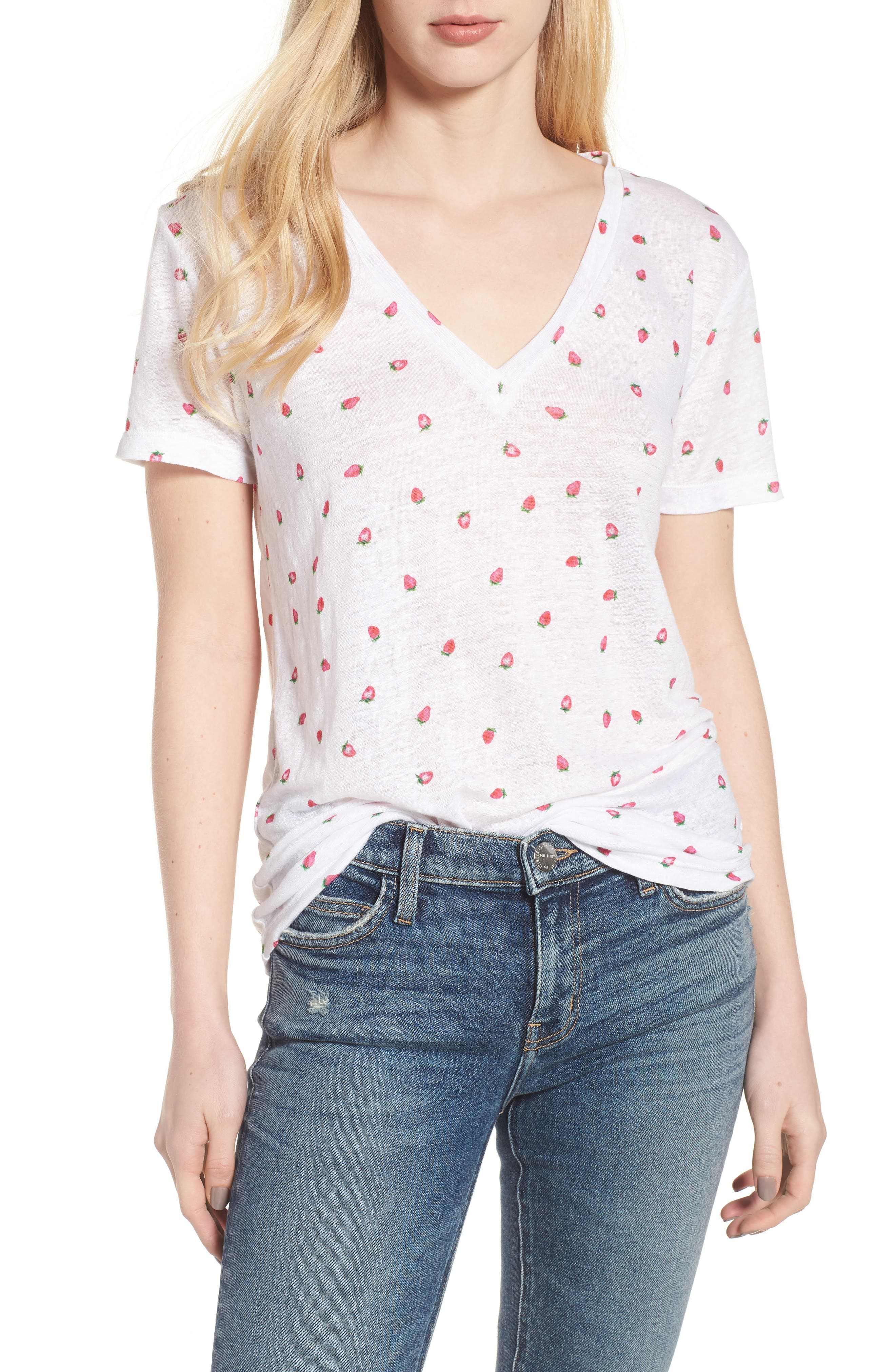 Cara Strawberry Tee,                         Main,                         color, 604
