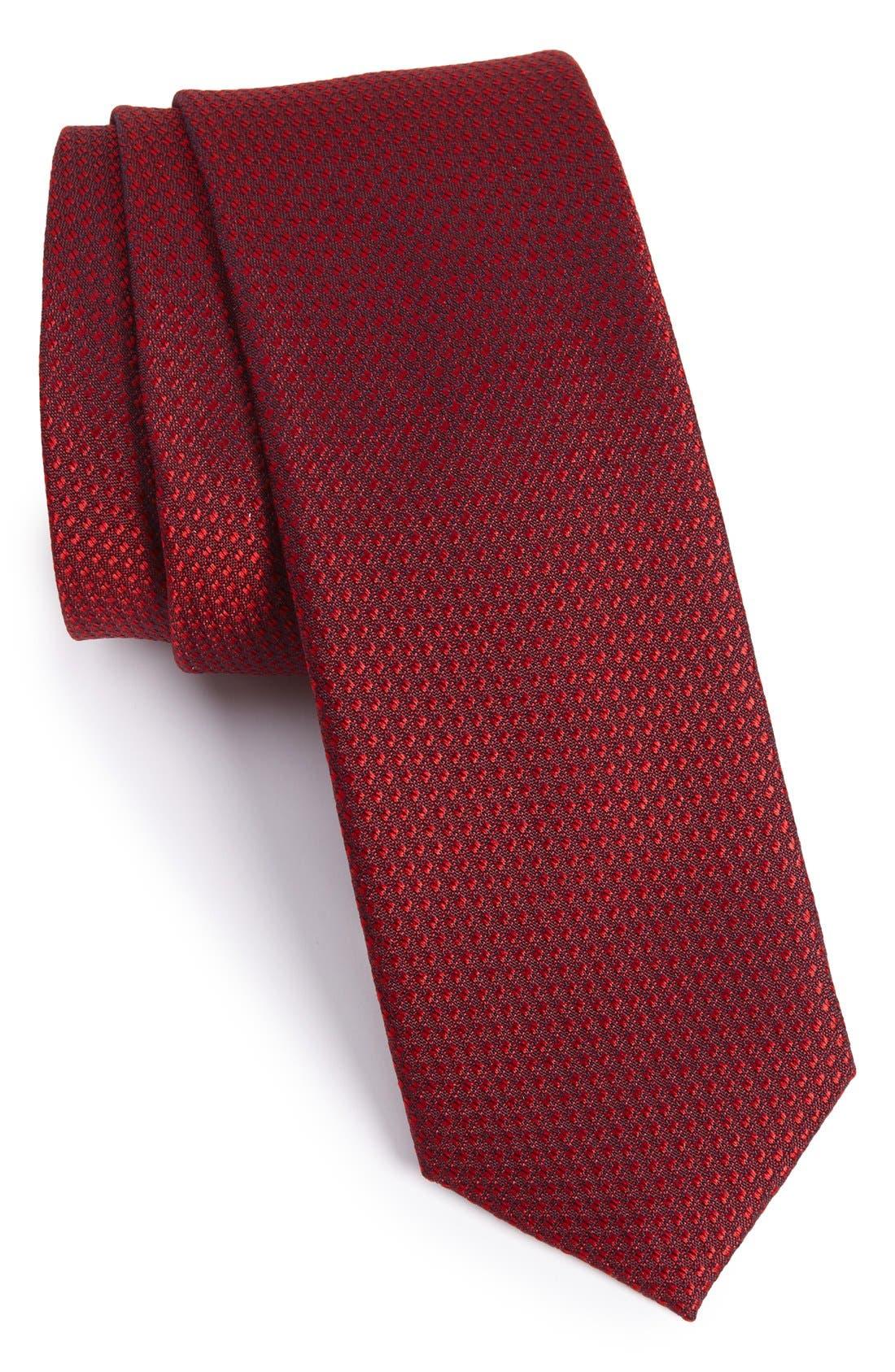 Seattle Textured Silk Tie,                             Alternate thumbnail 102, color,