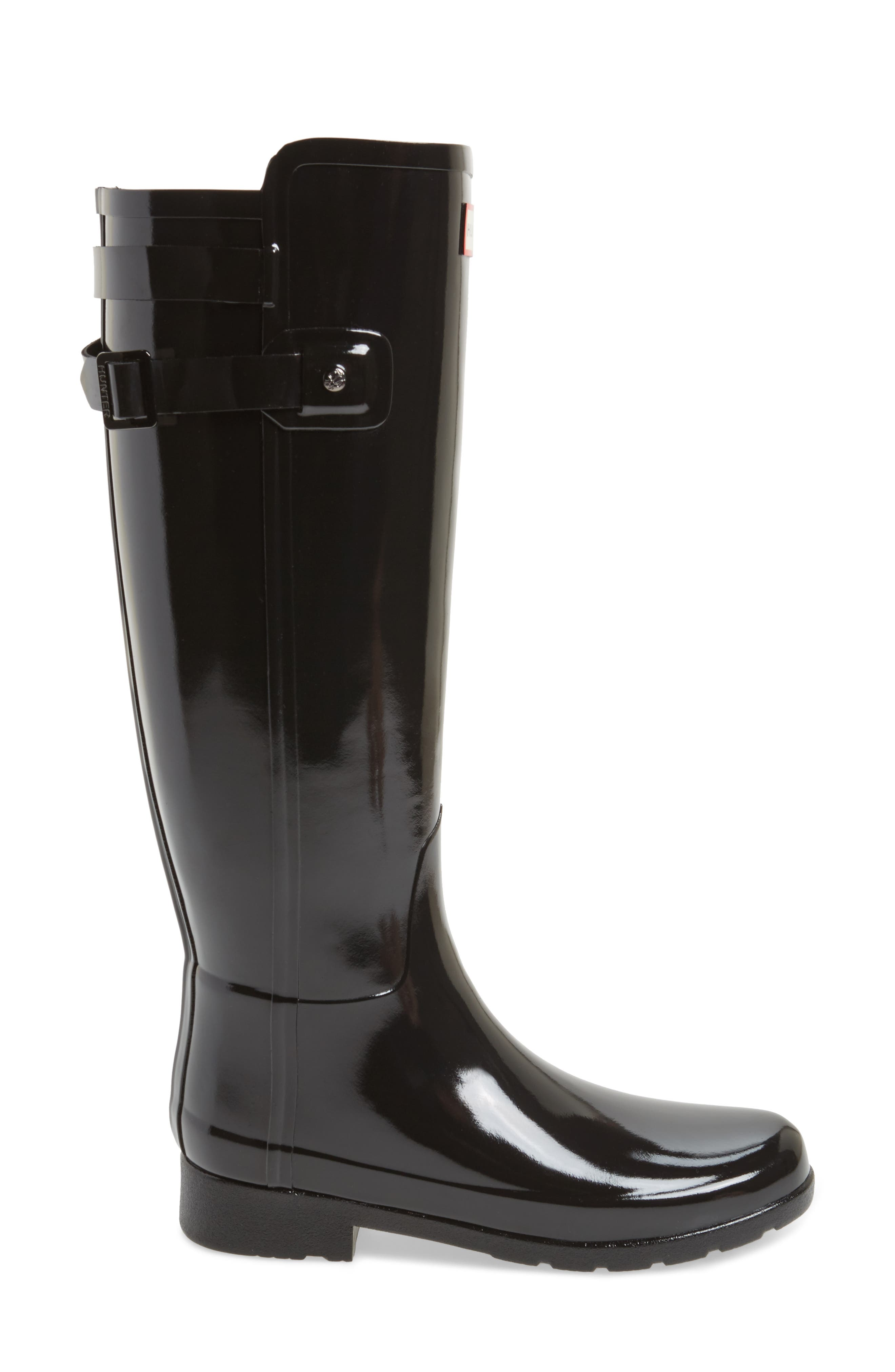 Original Refined High Gloss Rain Boot,                             Alternate thumbnail 3, color,