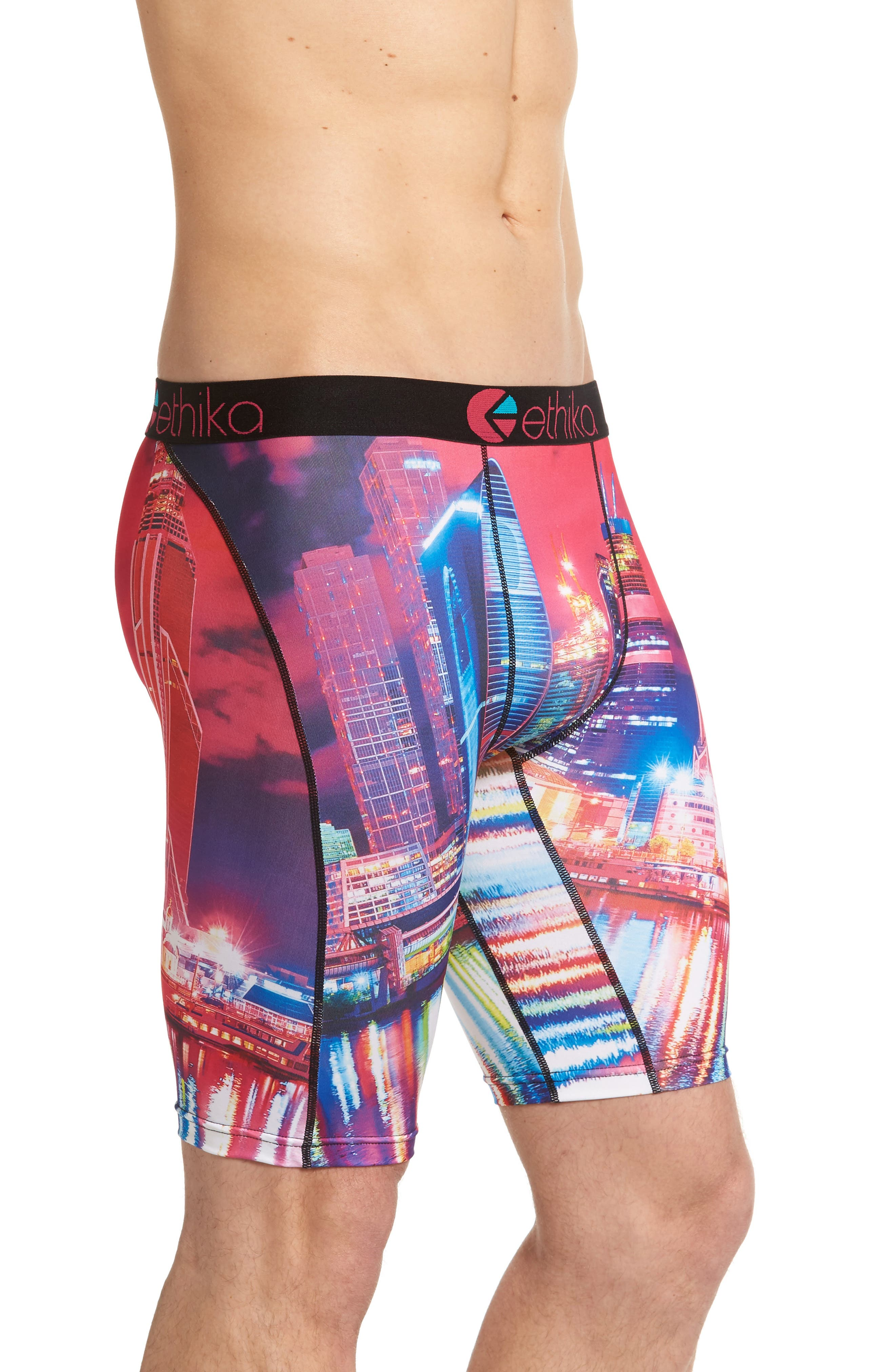 Moscow Nights Stretch Boxer Briefs,                             Alternate thumbnail 3, color,                             650