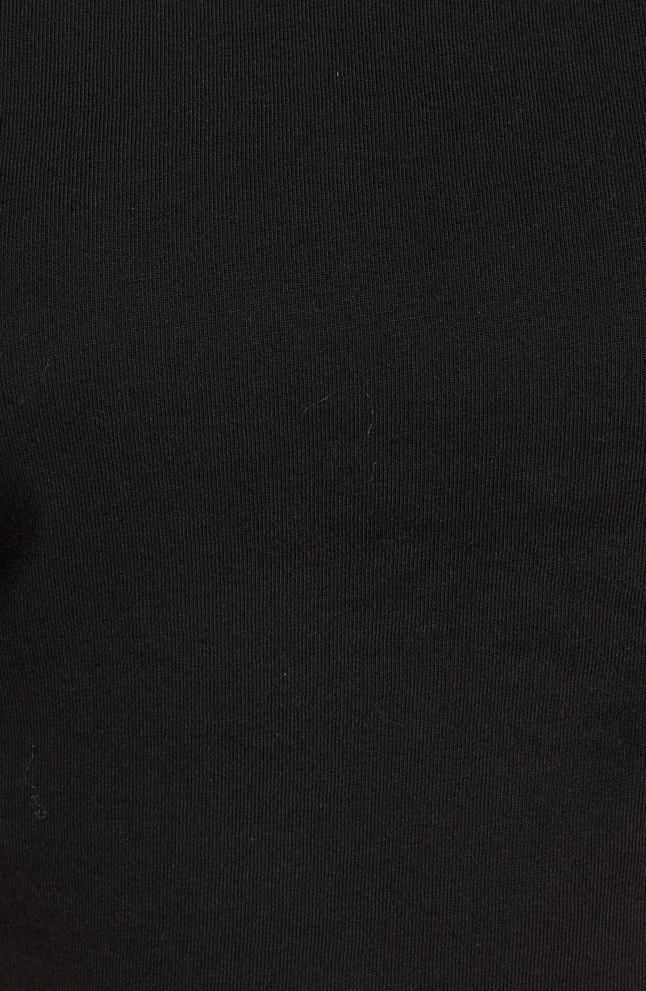 Ruffle Sleeve Tee,                             Alternate thumbnail 6, color,                             001