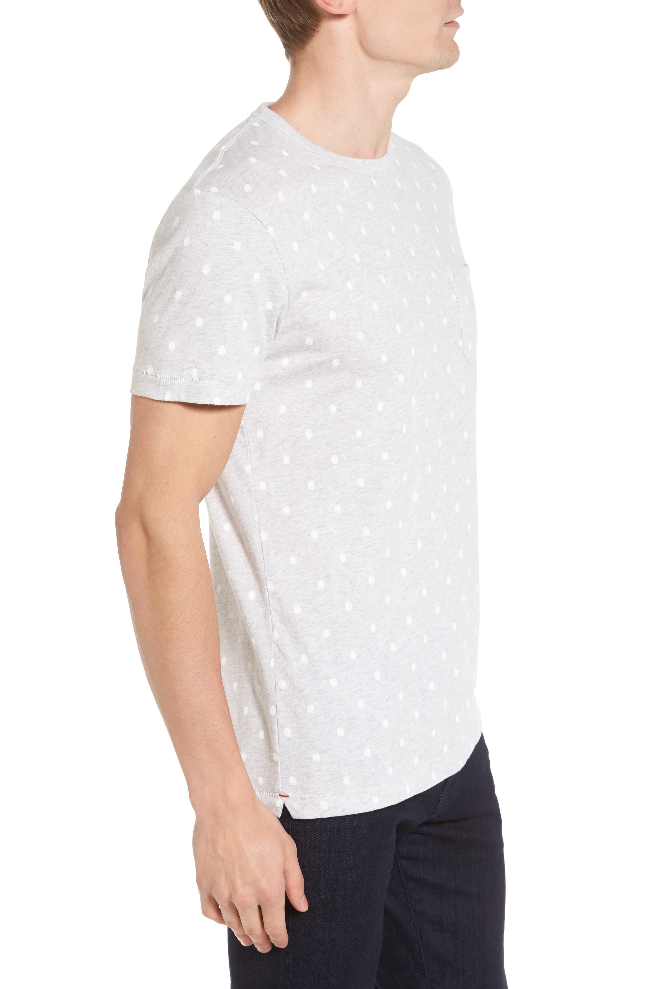 Polka Dot T-Shirt,                             Alternate thumbnail 3, color,                             020