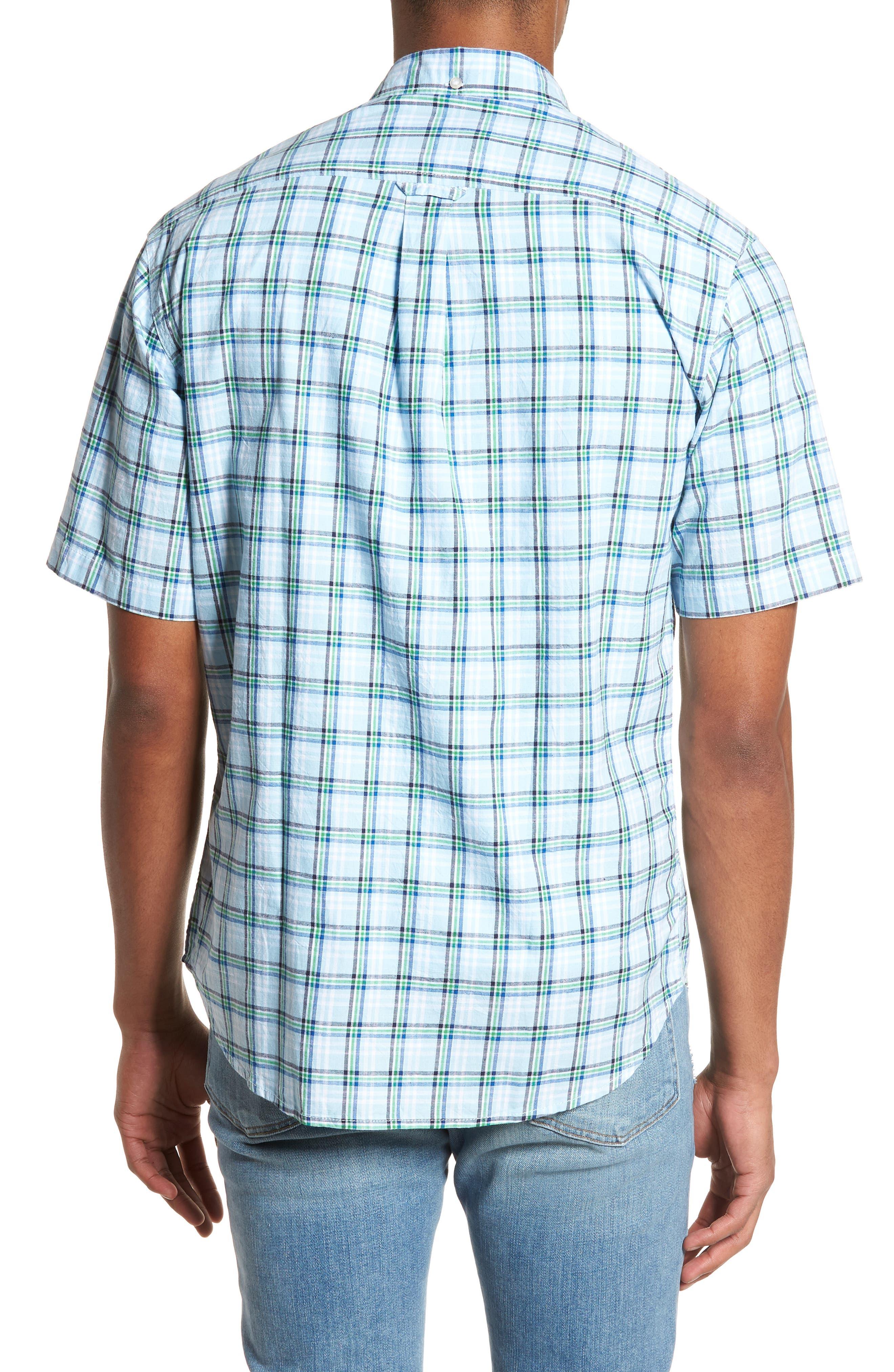 Plaid Oxford Sport Shirt,                             Alternate thumbnail 2, color,                             400